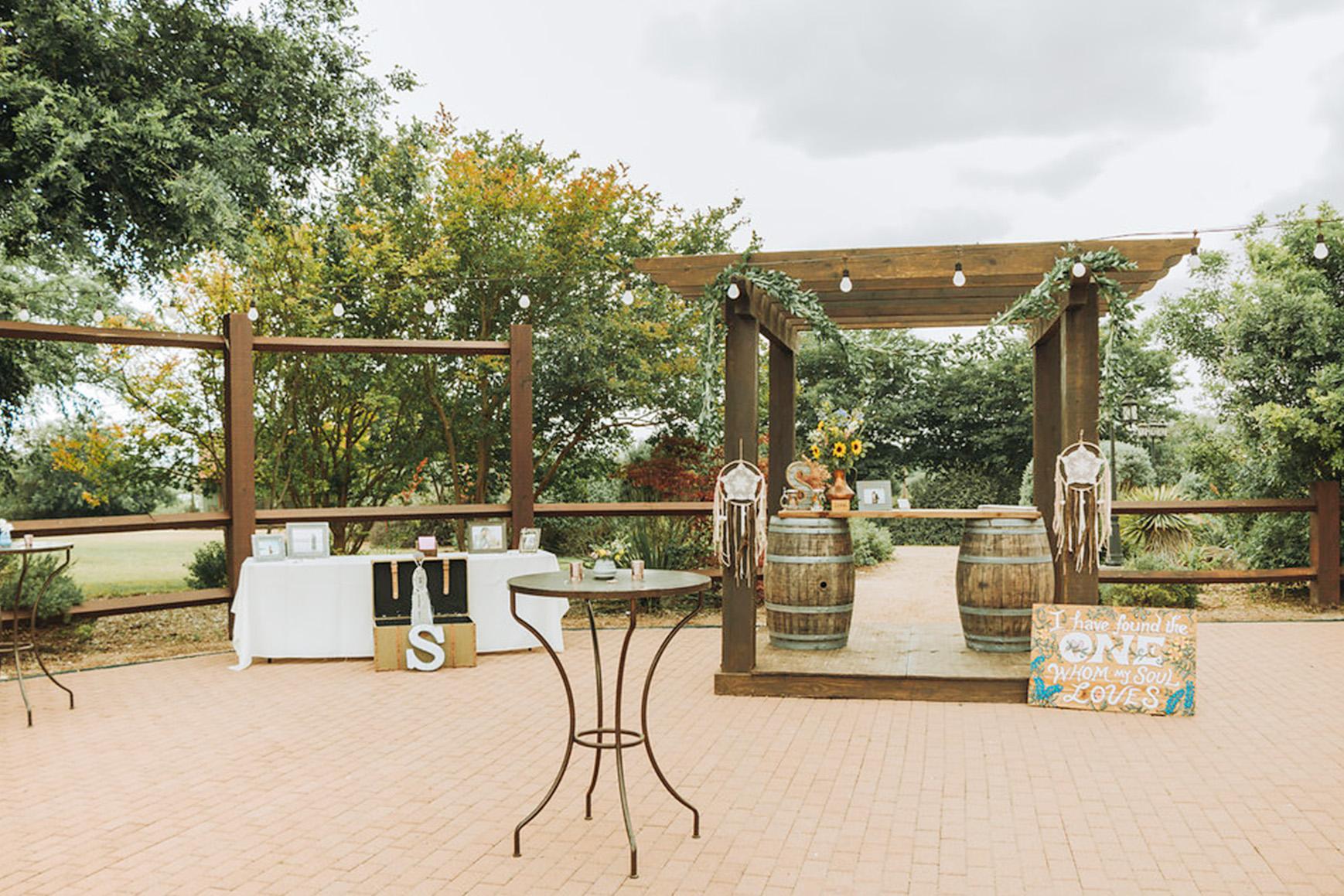 Cocktail Patio  - Hofmann Ranch - Castroville, Texas - Medina County - Wedgewood Weddings