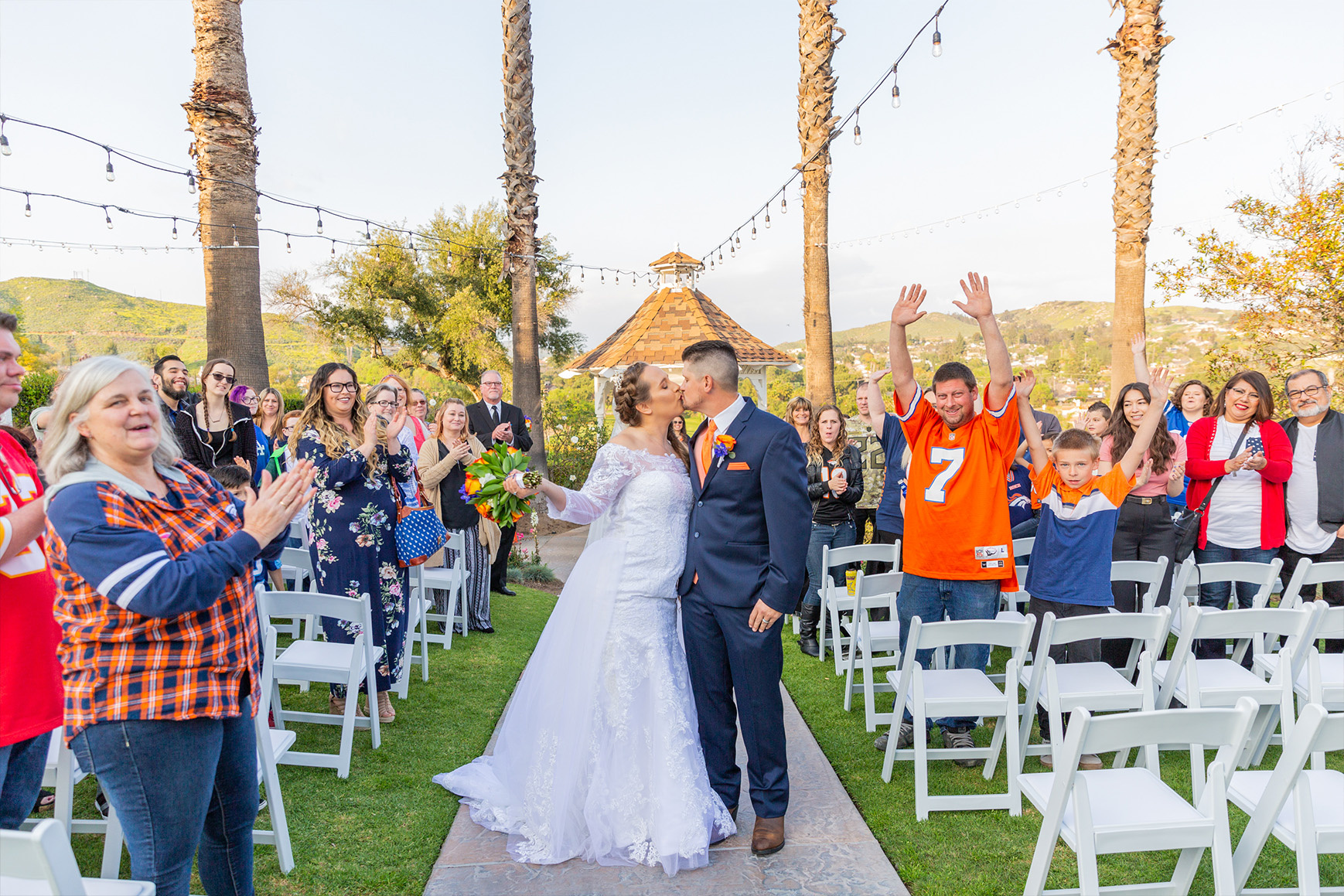 Happy newlyweds - Indian Hills - Riverside, California - Riverside County - Wedgewood Weddings