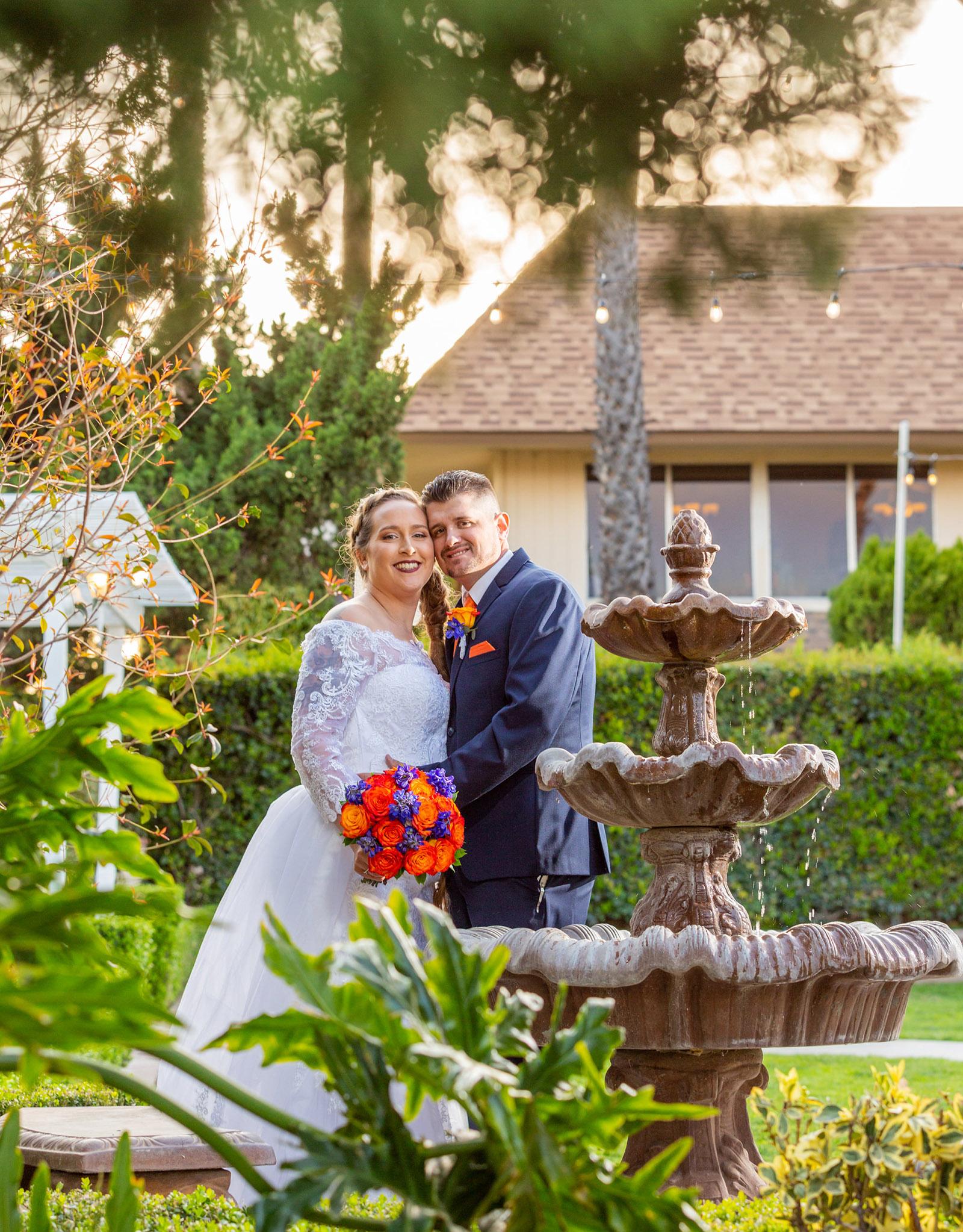 Fountain Couple - Indian Hills - Riverside, California - Riverside County - Wedgewood Weddings