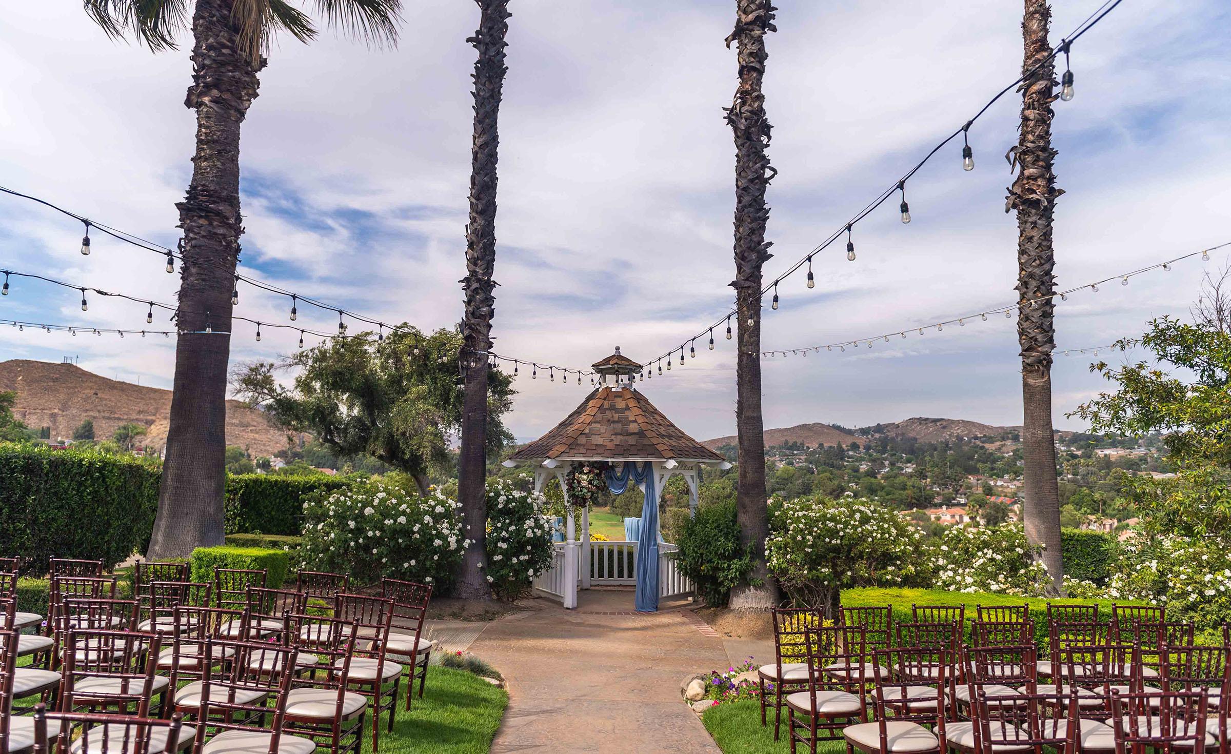 Birstro Lights Ceremony Site - Indian Hills - Riverside, California - Riverside County - Wedgewood Weddings