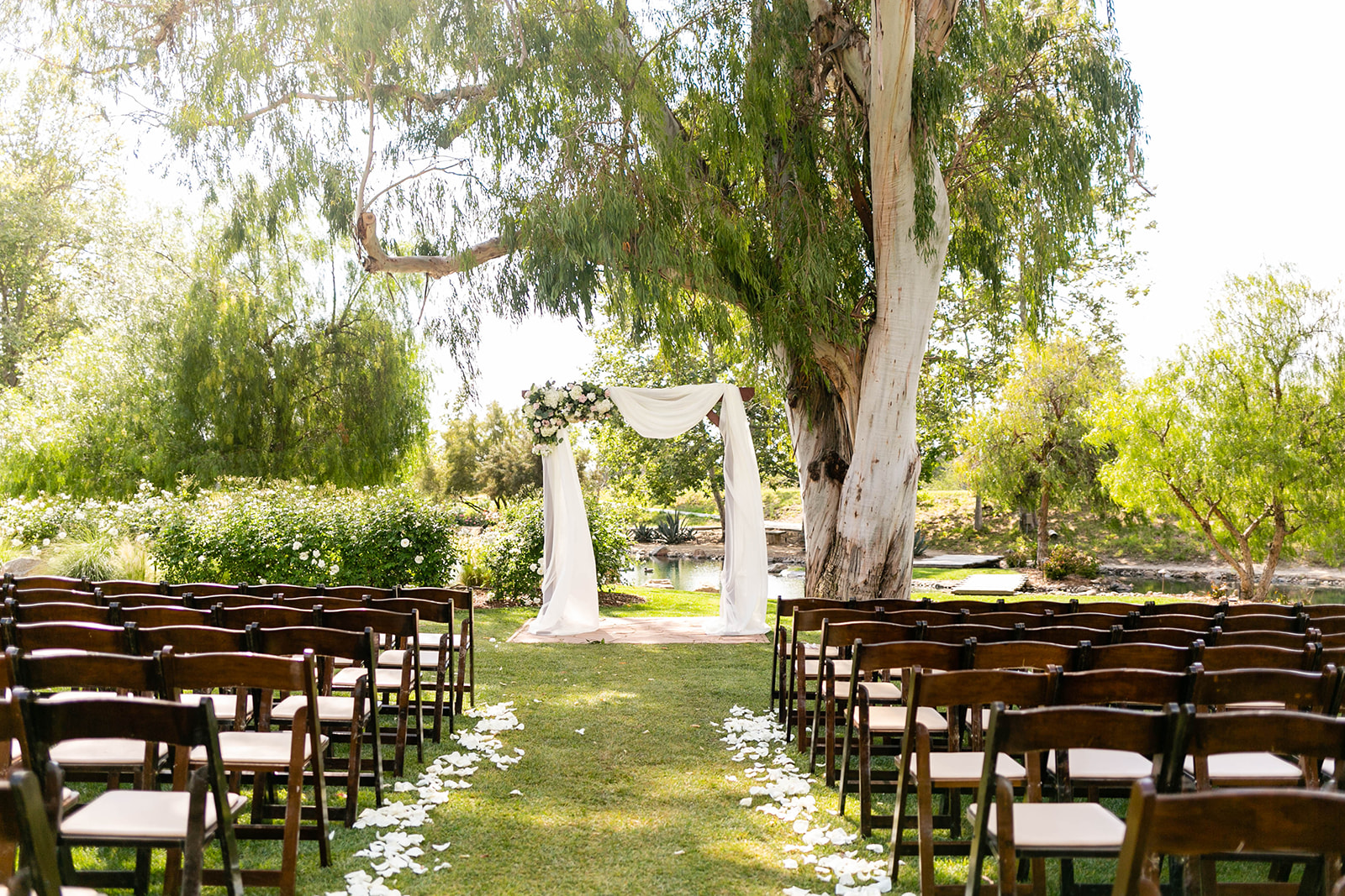 outdoor wedding ceremony setup at Galway Downs in Temecula, CA