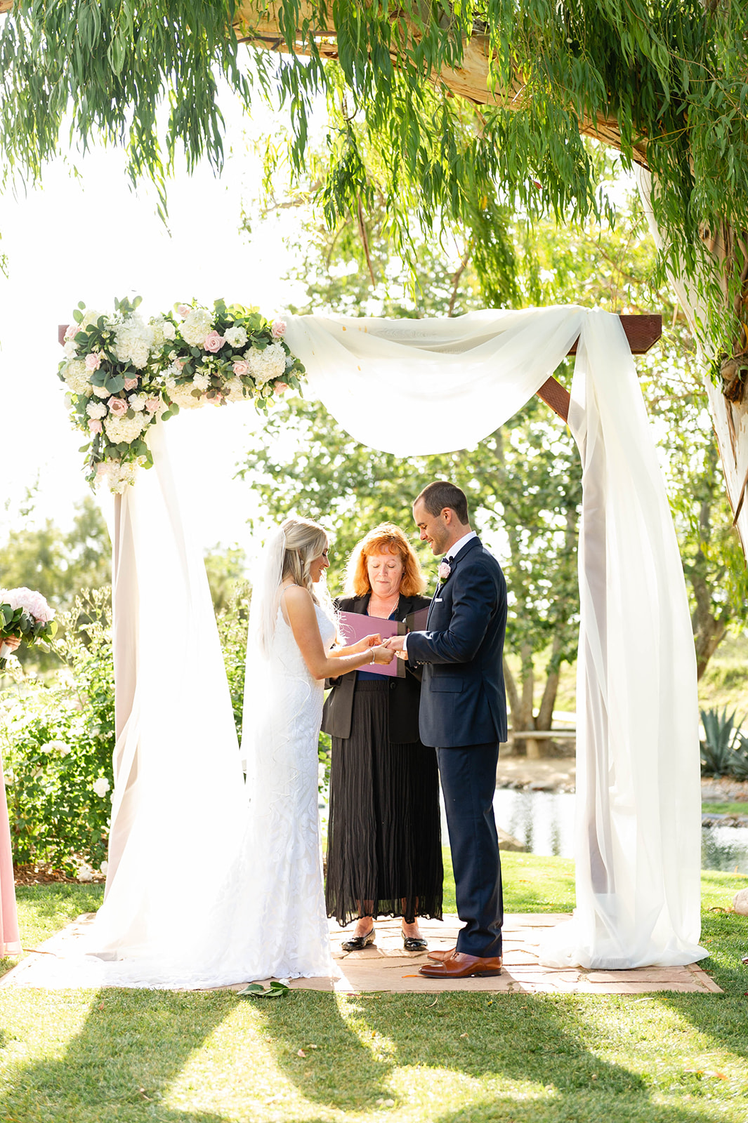 wedding arbor at Galway Downs in Temecula CA