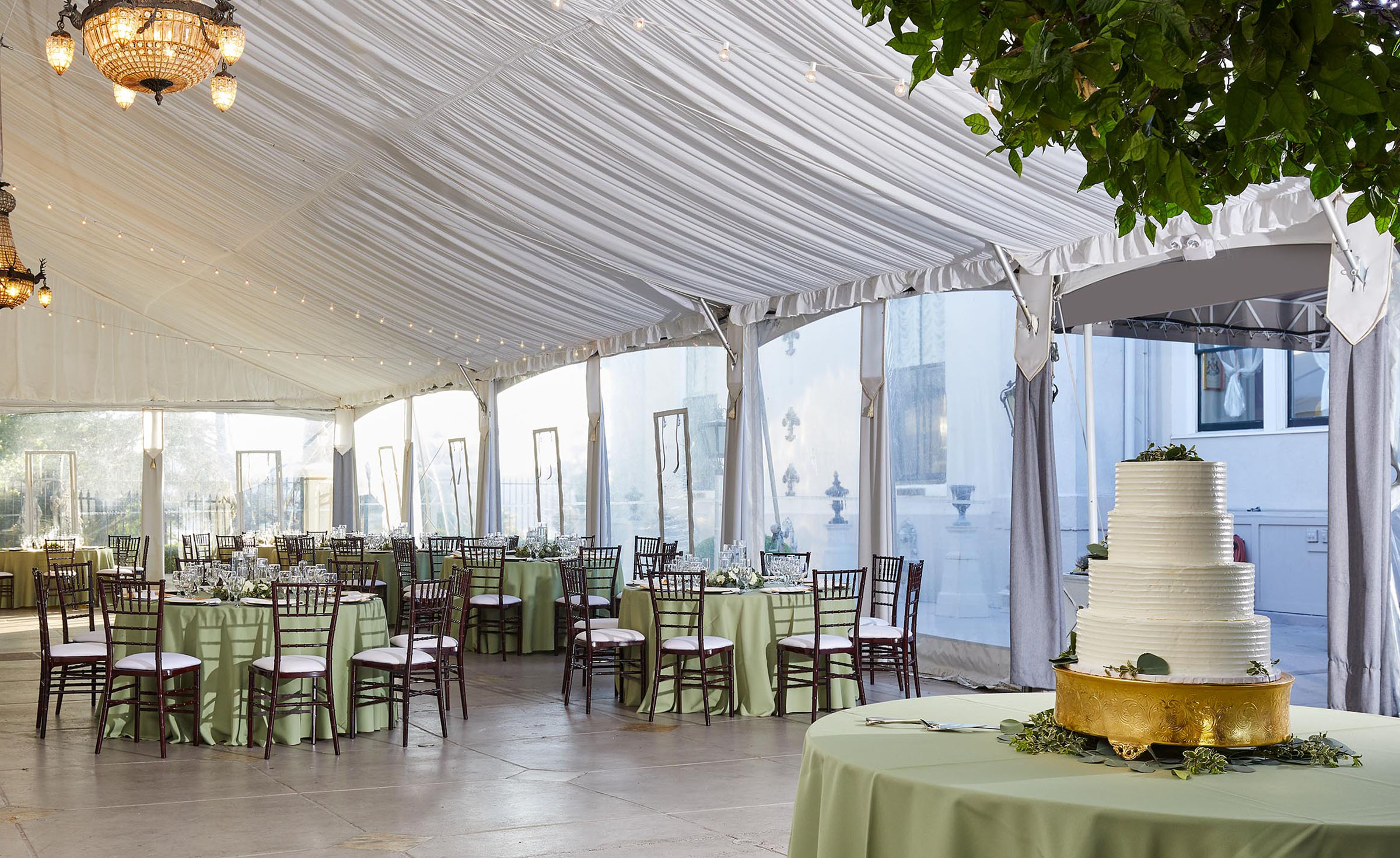 Reception tent - Jefferson Street Mansion - Benicia, California - Solano County - Wedgewood Weddings