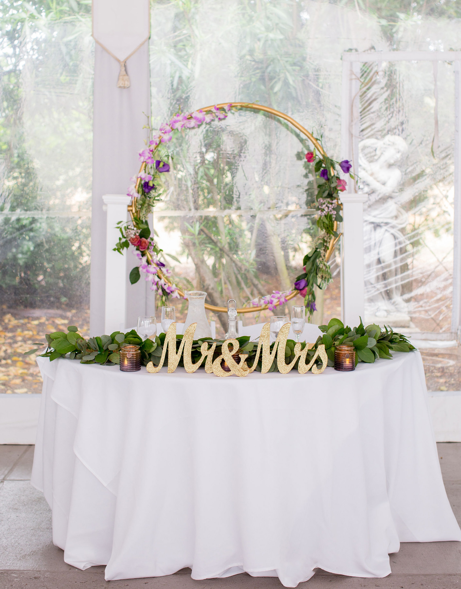 Decorative sweetheart table - Jefferson Street Mansion - Benicia, California - Solano County - Wedgewood Weddings