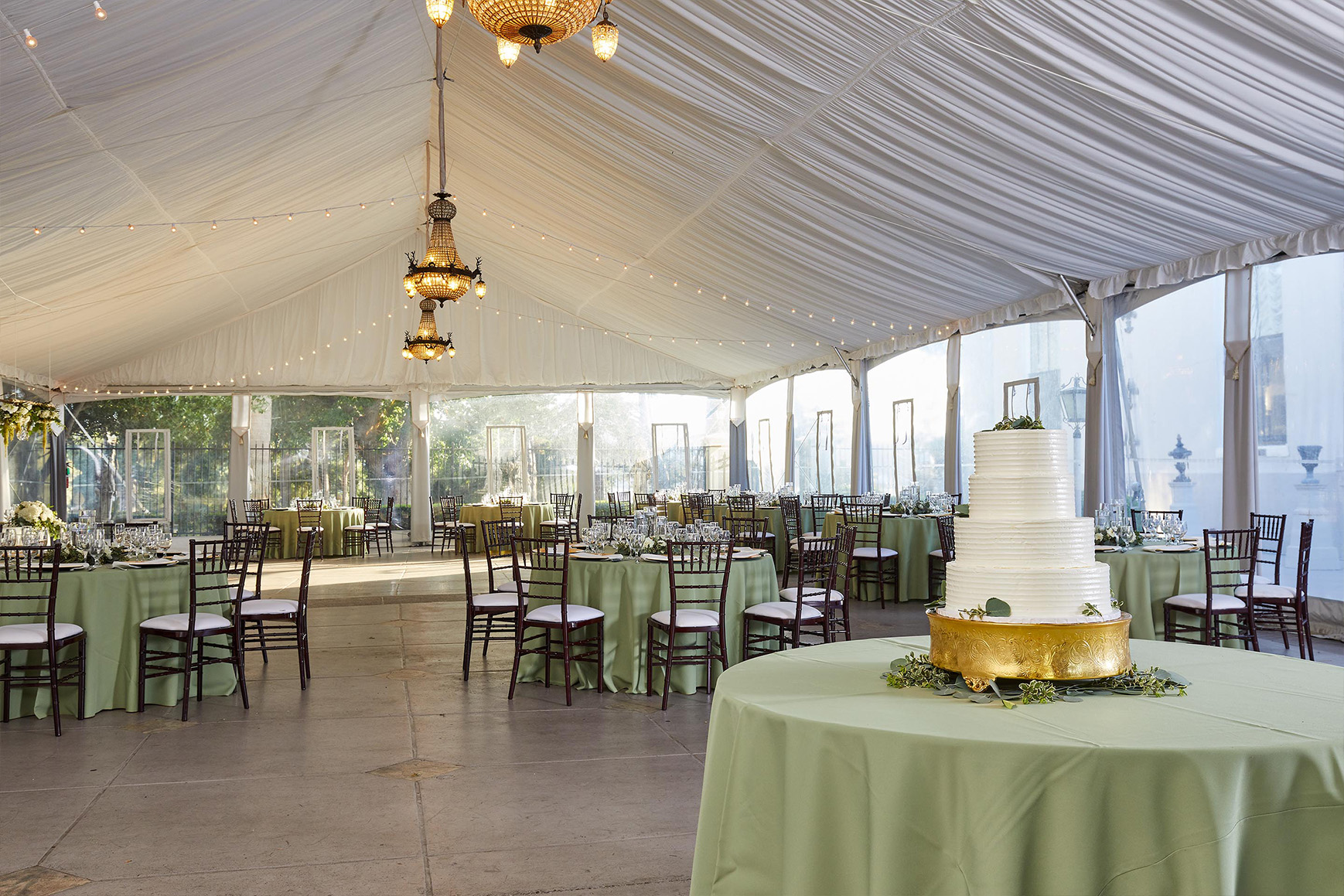Elegant event tent - Jefferson Street Mansion - Benicia, California - Solano County - Wedgewood Weddings