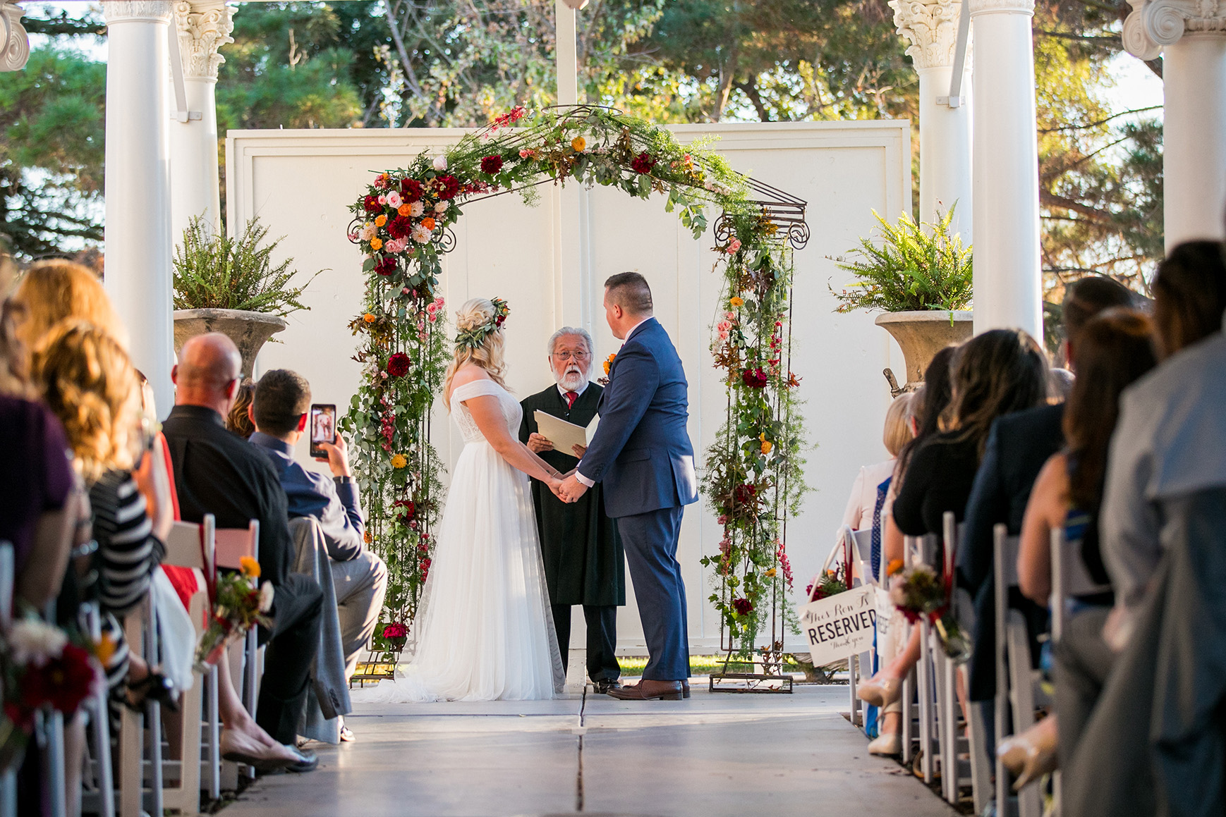 Beautiful vows at this historic venue - Jefferson Street Mansion - Benicia, California - Solano County - Wedgewood Weddings