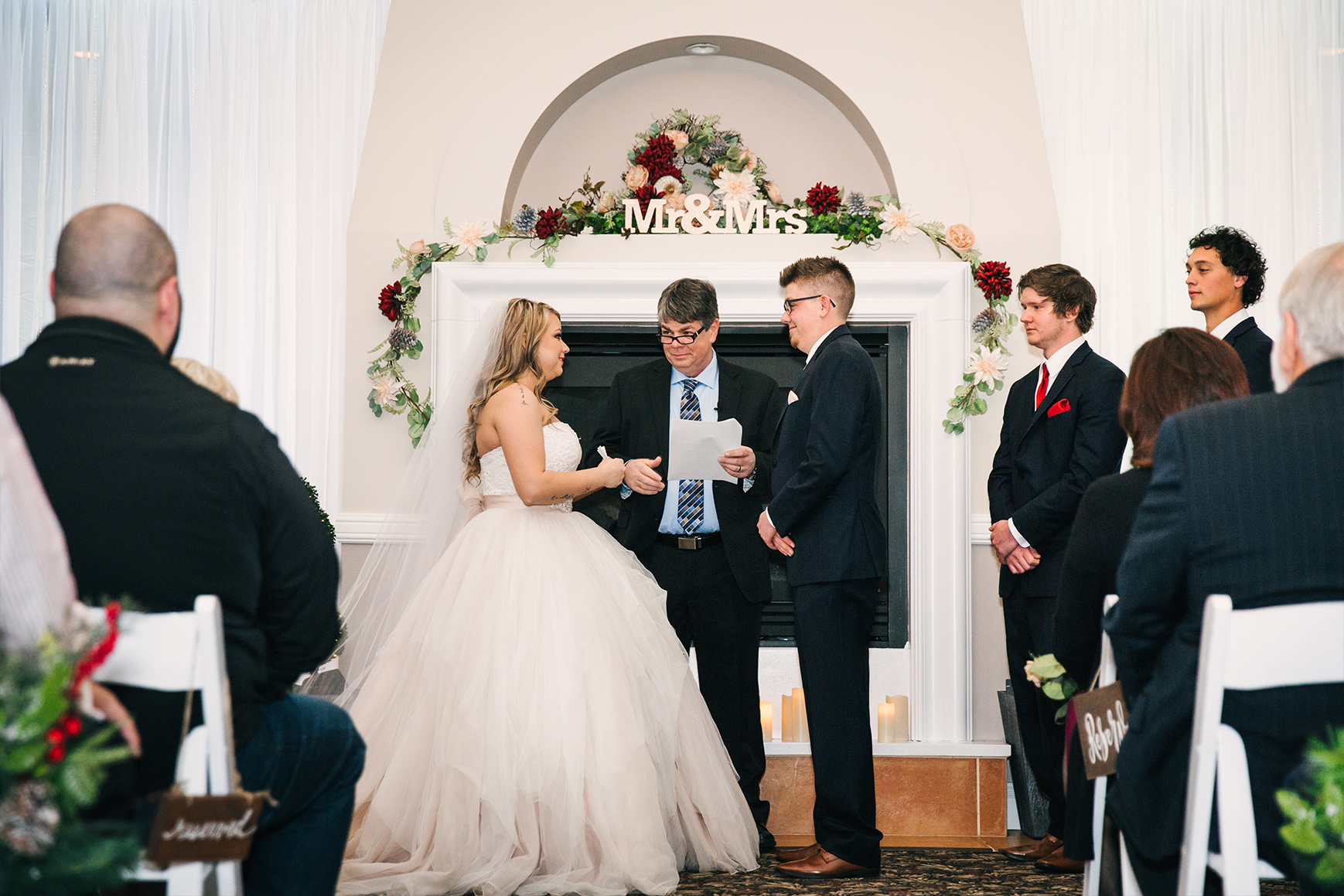 Indoor Ceremony - Ken Caryl - Littleton, Colorado - Arapahoe County - Wedgewood Weddings