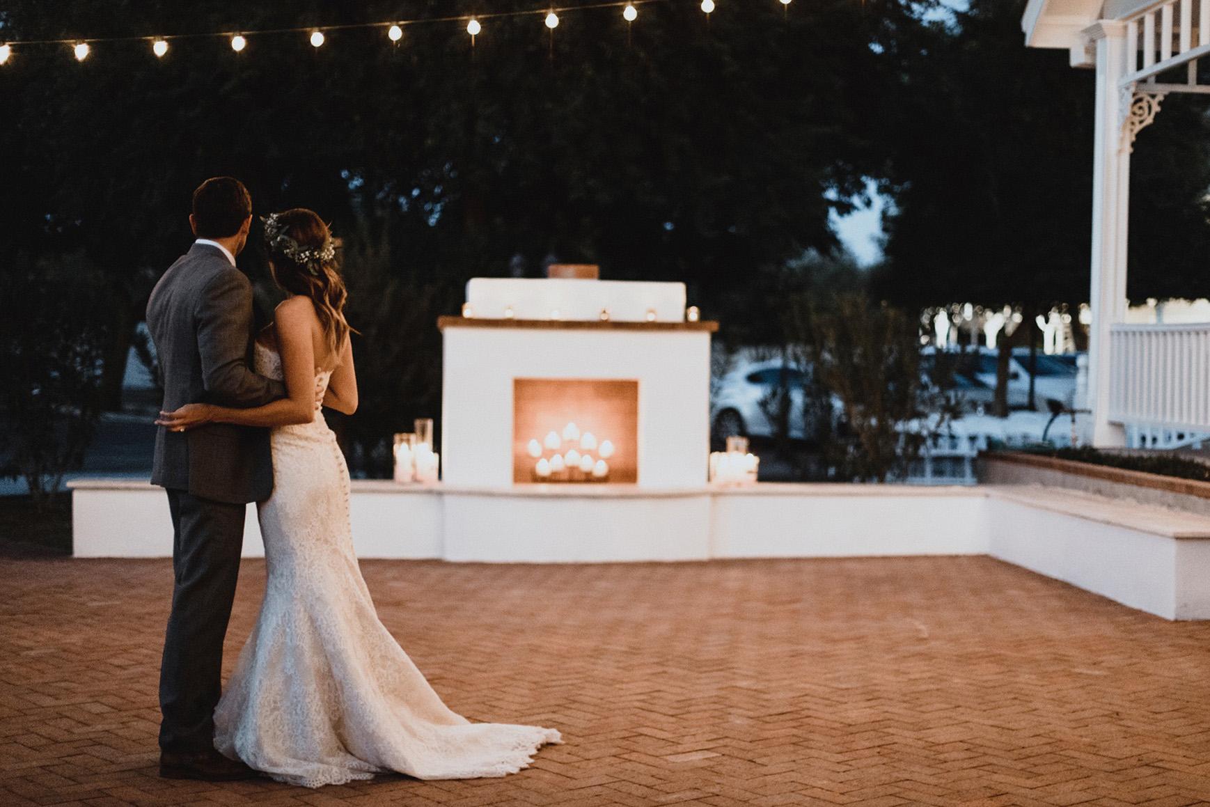 Cocktails by the fire - Lindsay Grove - Mesa, Arizona - Maricopa County - Wedgewood Weddings