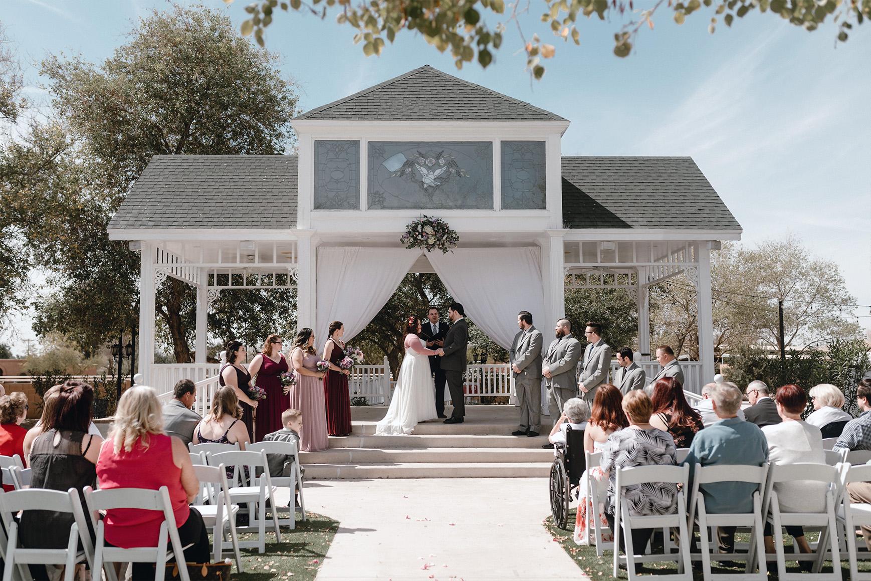 Happy newlyweds - Lindsay Grove - Mesa, Arizona - Maricopa County - Wedgewood Weddings