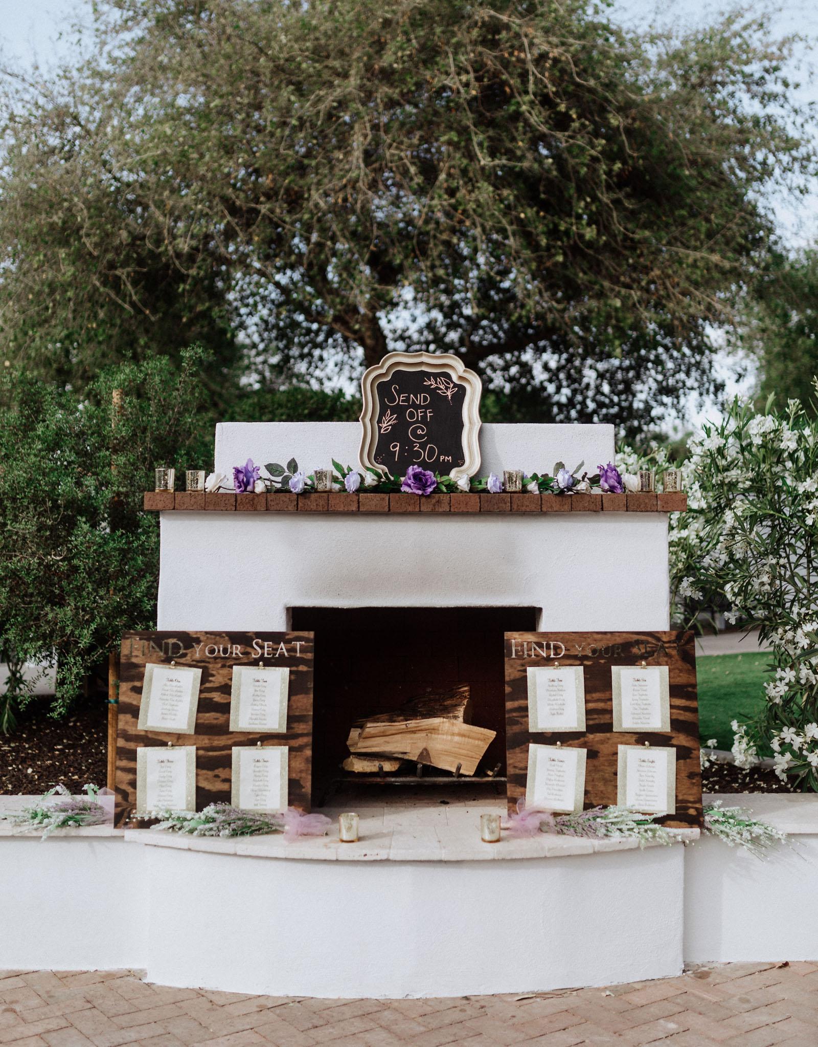 Cozy fireplace - Lindsay Grove - Mesa, Arizona - Maricopa County - Wedgewood Weddings