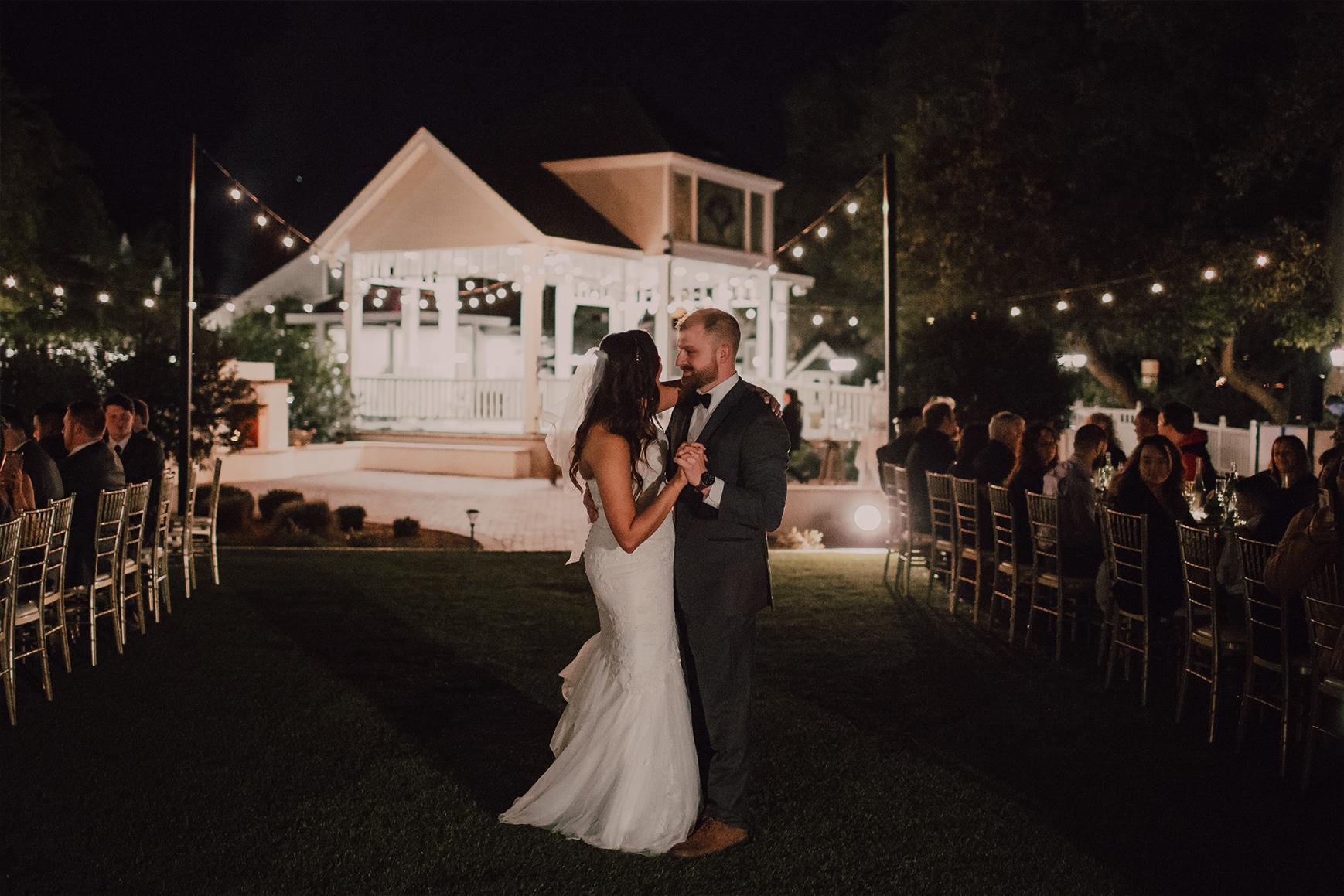 First Dance under the stars - Lindsay Grove - Mesa, Arizona - Maricopa County - Wedgewood Weddings