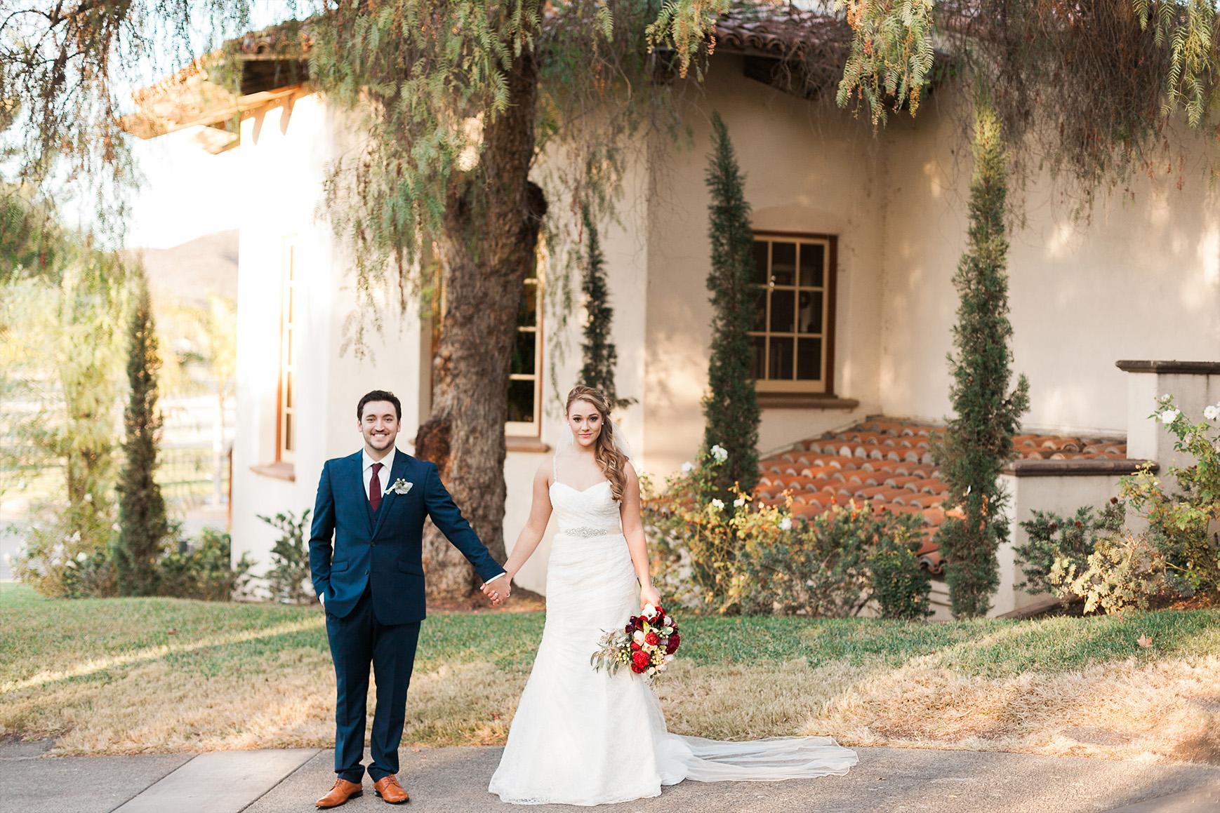 Exterior photo op - Menifee Lakes - Menifee, California - Riverside County - Wedgewood Weddings