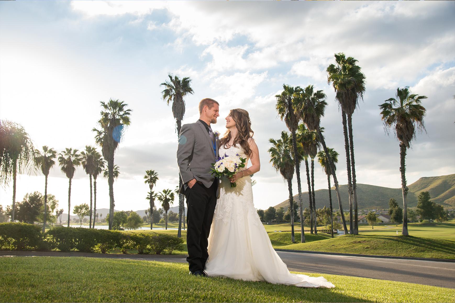 Views overlooking the rolling greens of the lush golf course - Menifee Lakes - Menifee, California - Riverside County - Wedgewood Weddings