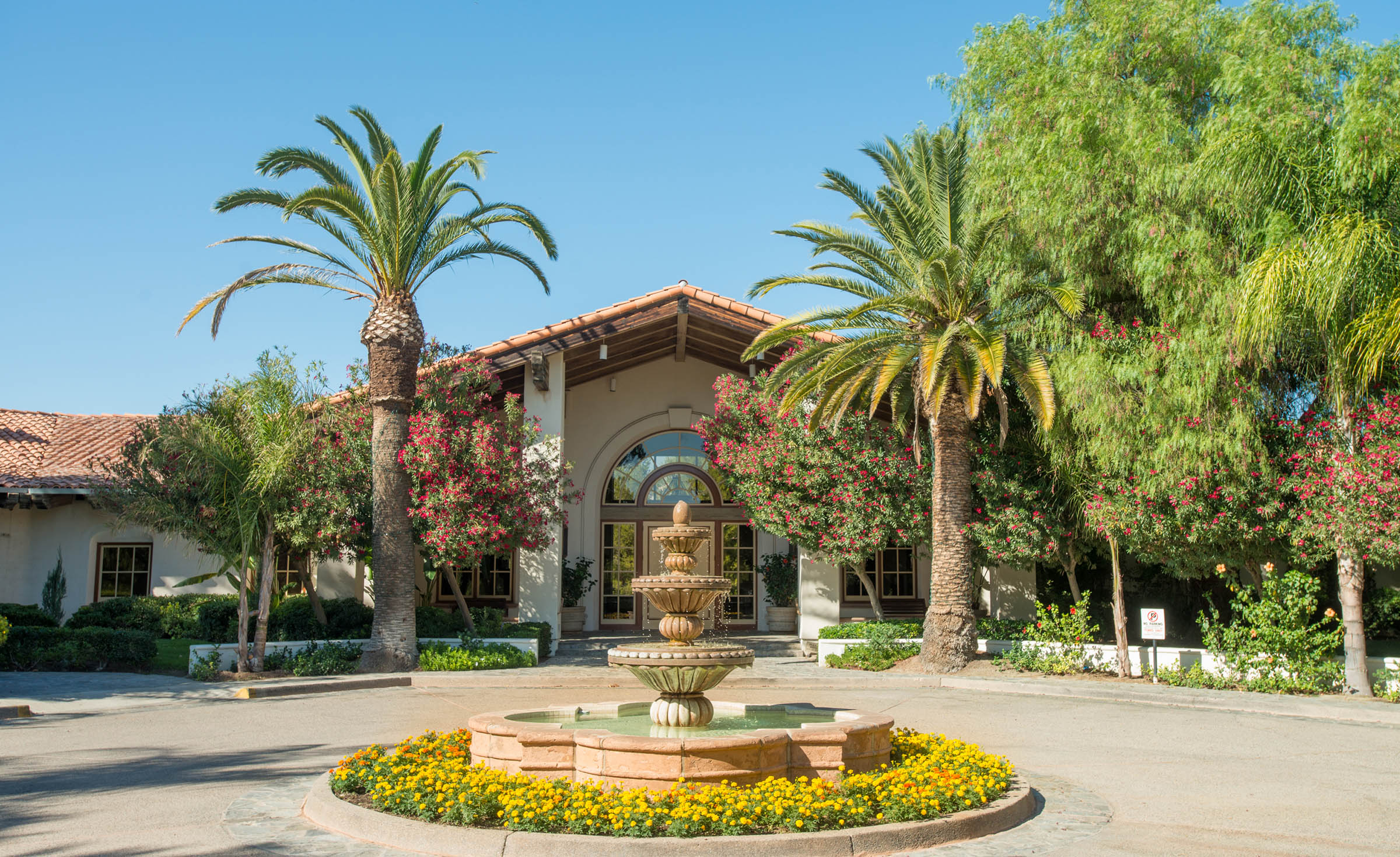 Romantic fountain courtyard ceremony - Menifee Lakes - Menifee, California - Riverside County - Wedgewood Weddings