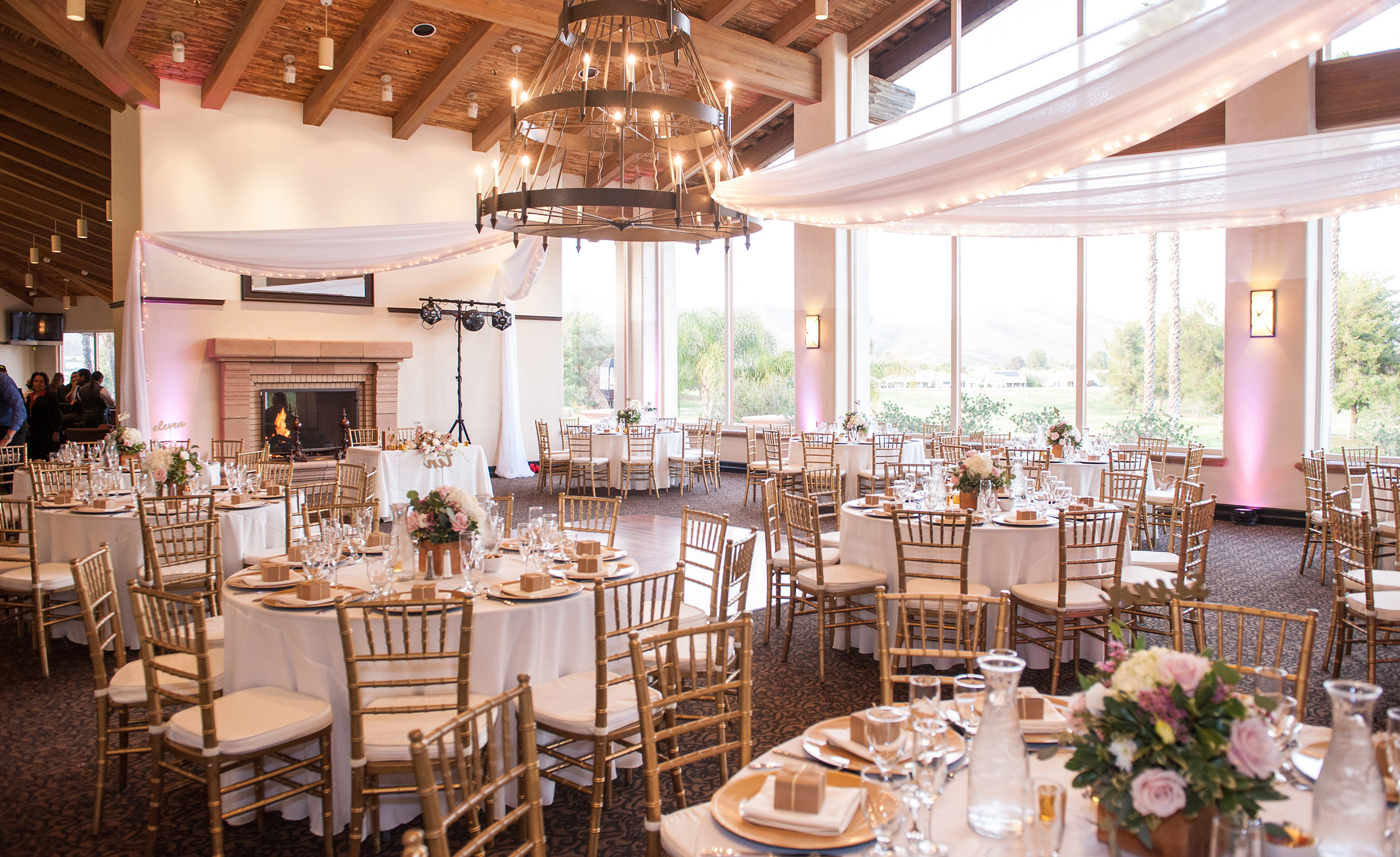 Wedding reception with rustic touches - Menifee Lakes - Menifee, California - Riverside County - Wedgewood Weddings
