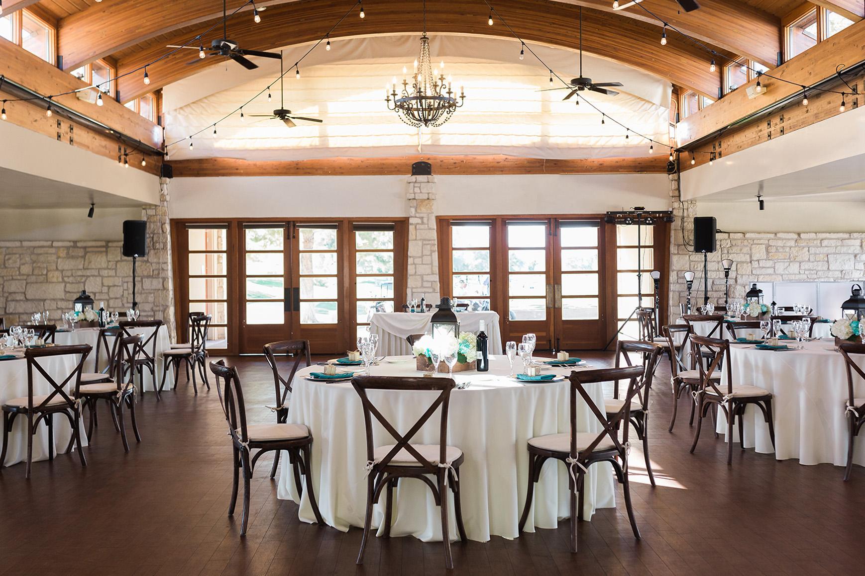 Rustic reception space - Ocotillo - Chandler, Arizona - Maricopa County - Wedgewood Weddings