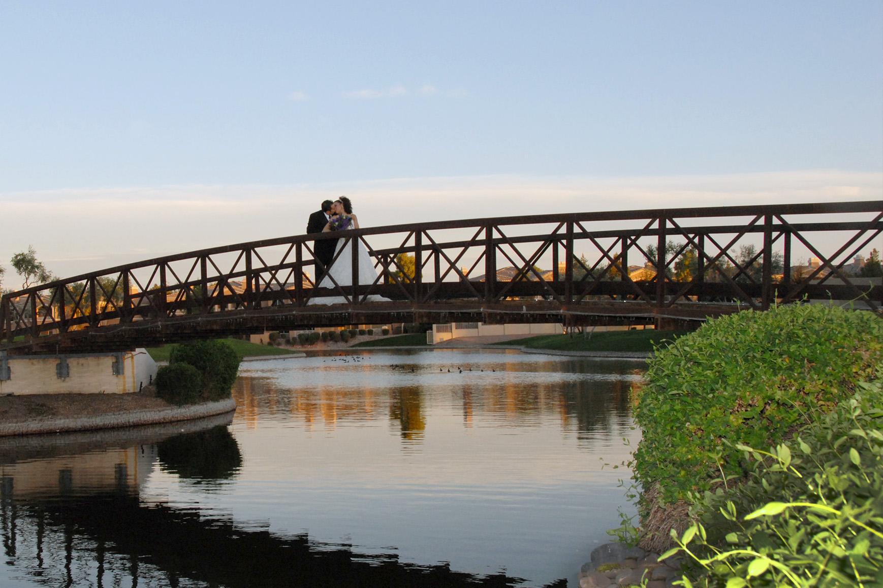 Picturesque bridge - Ocotillo - Chandler, Arizona - Maricopa County - Wedgewood Weddings