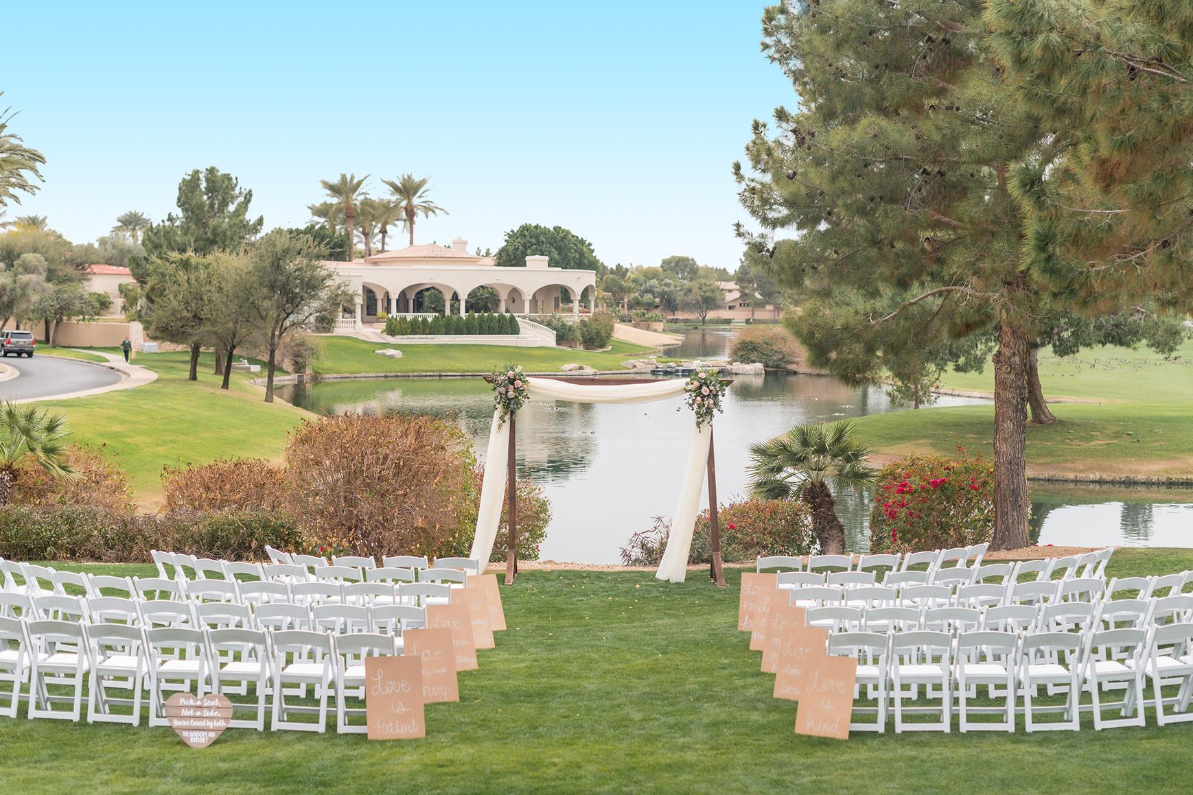 Sunny Ceremony - Ocotillo - Chandler, Arizona - Maricopa County - Wedgewood Weddings