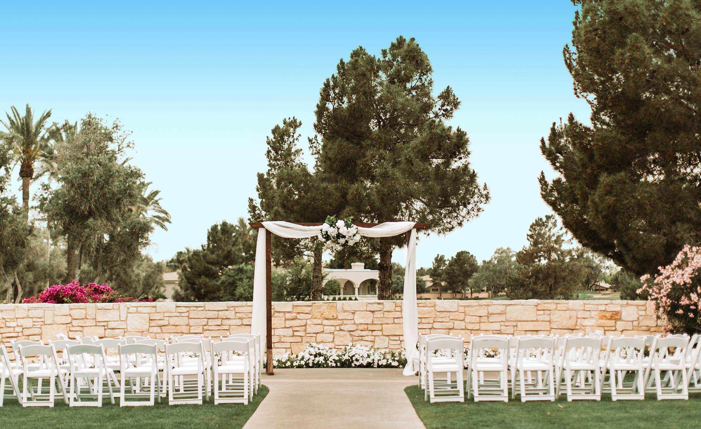 Outdoor ceremony - Ocotillo - Chandler, Arizona - Maricopa County - Wedgewood Weddings