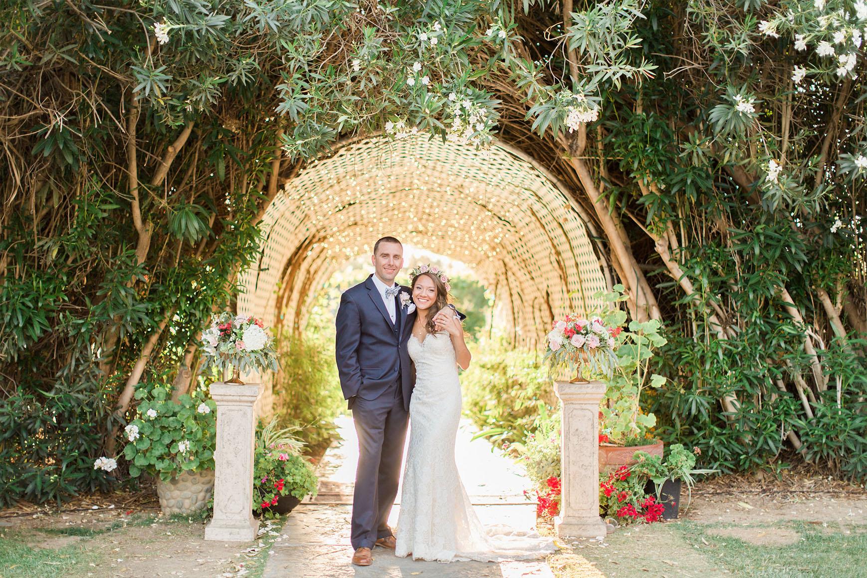 Glowing tunnel - Orchard - Menifee, California - Riverside County - Wedgewood Weddings