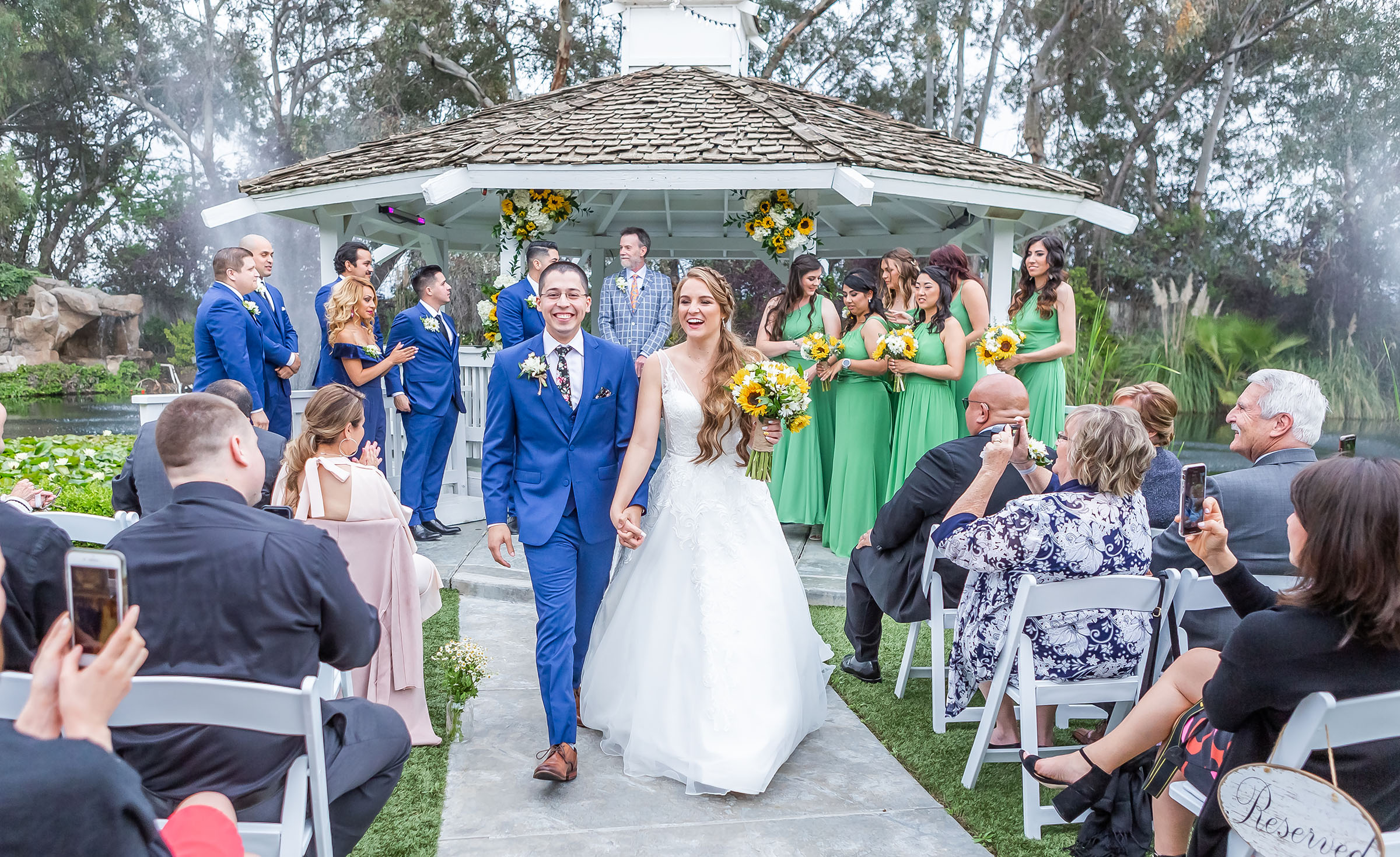 Outdoor ceremony gazebo surrounded by a whimsical garden - Orchard - Menifee, California - Riverside County - Wedgewood Weddings