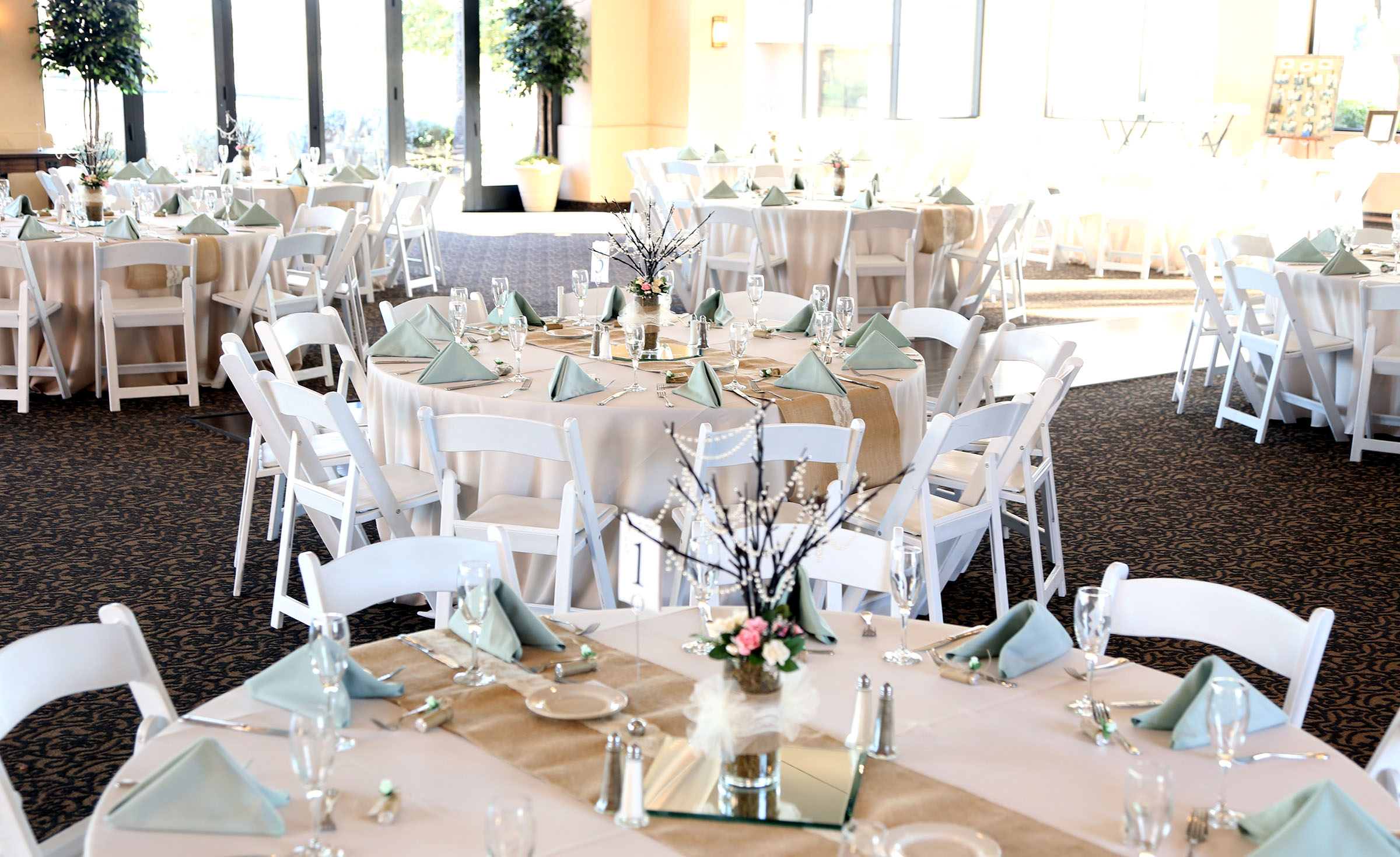 Floor-to-ceiling windows allow for amazing views and natural light - Palm Valley - Goodyear, Arizona - Maricopa County - Wedgewood Weddings