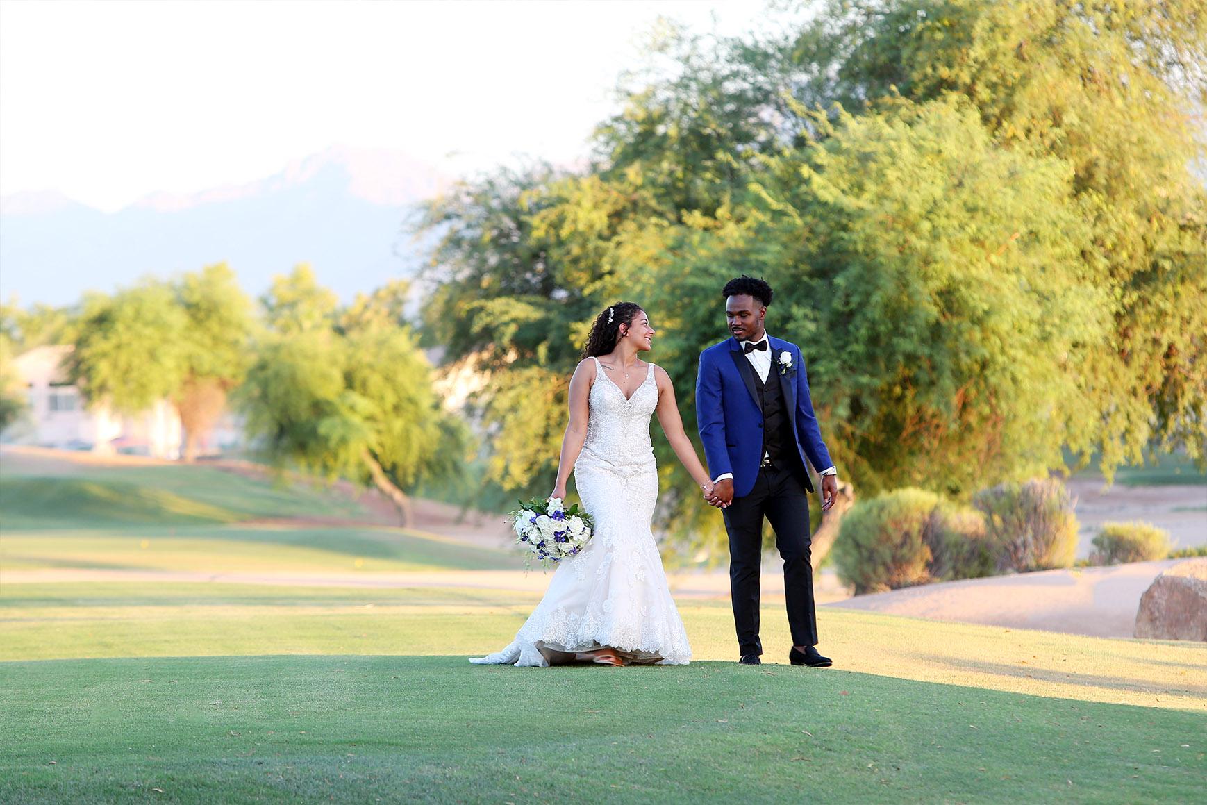 Happy Couple  - Palm Valley - Goodyear, Arizona - Maricopa County - Wedgewood Weddings