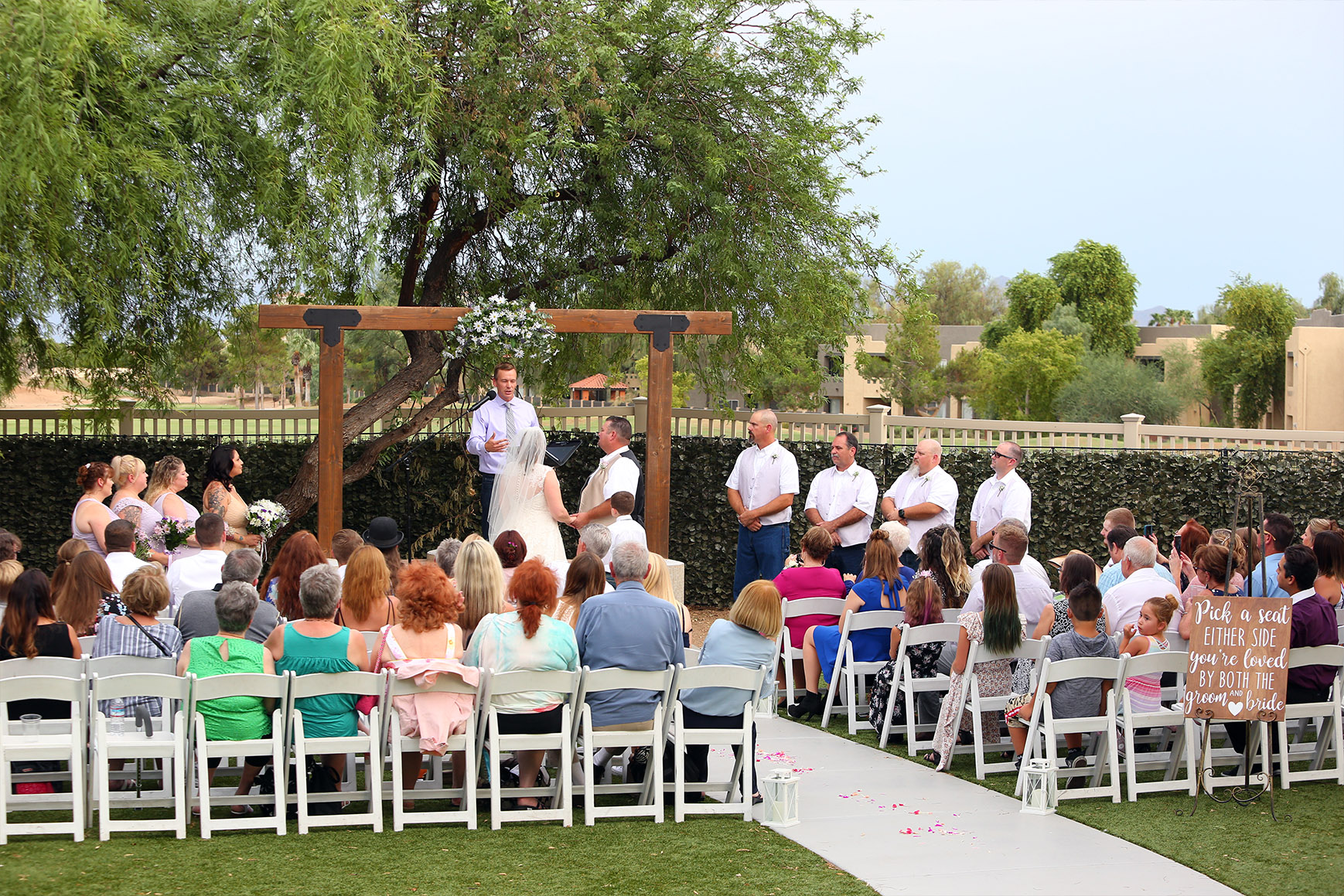 Outdoor Ceremony Site - Palm Valley - Goodyear, Arizona - Maricopa County - Wedgewood Weddings