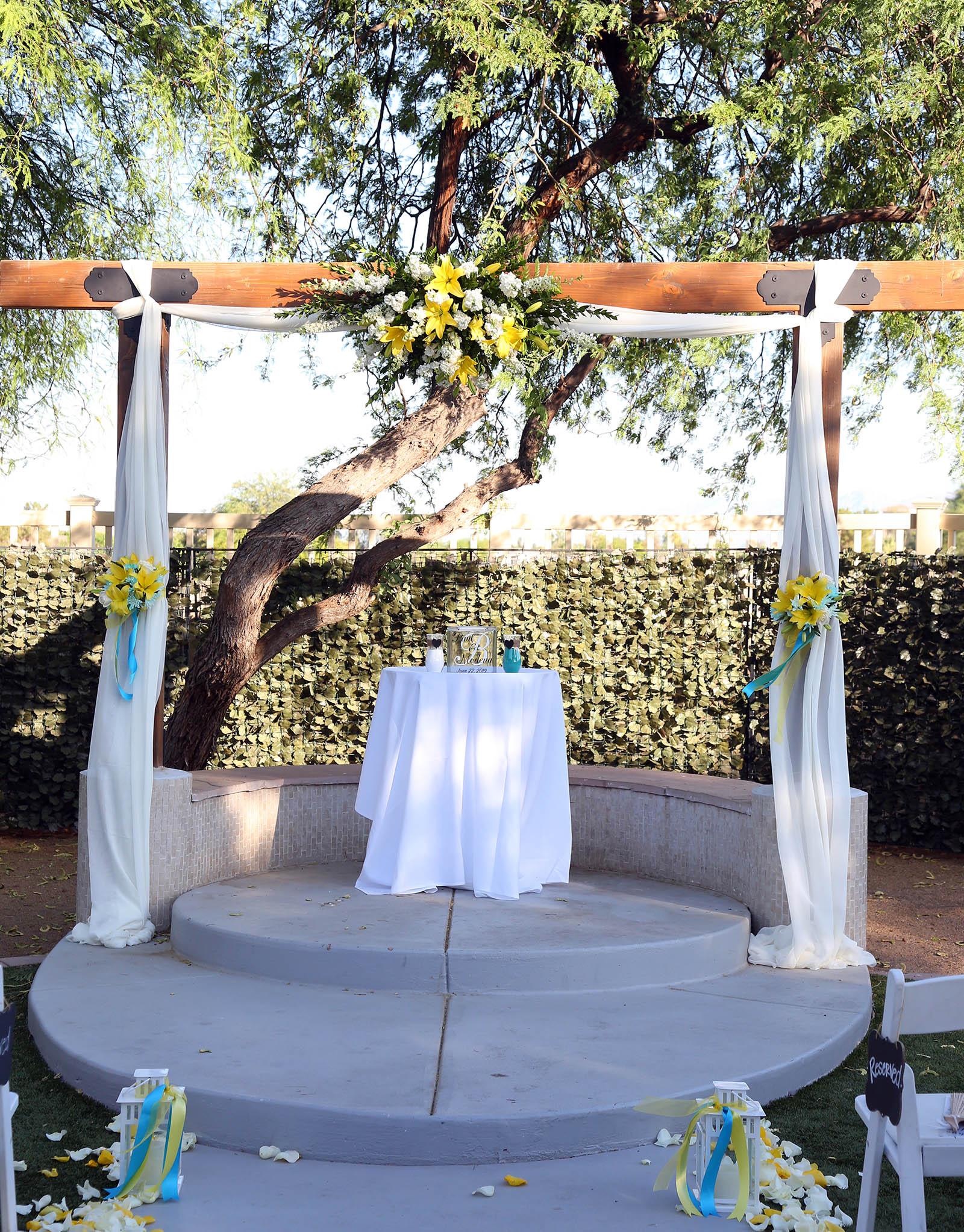 Romantic Ceremony Site- Palm Valley - Goodyear, Arizona - Maricopa County - Wedgewood Weddings