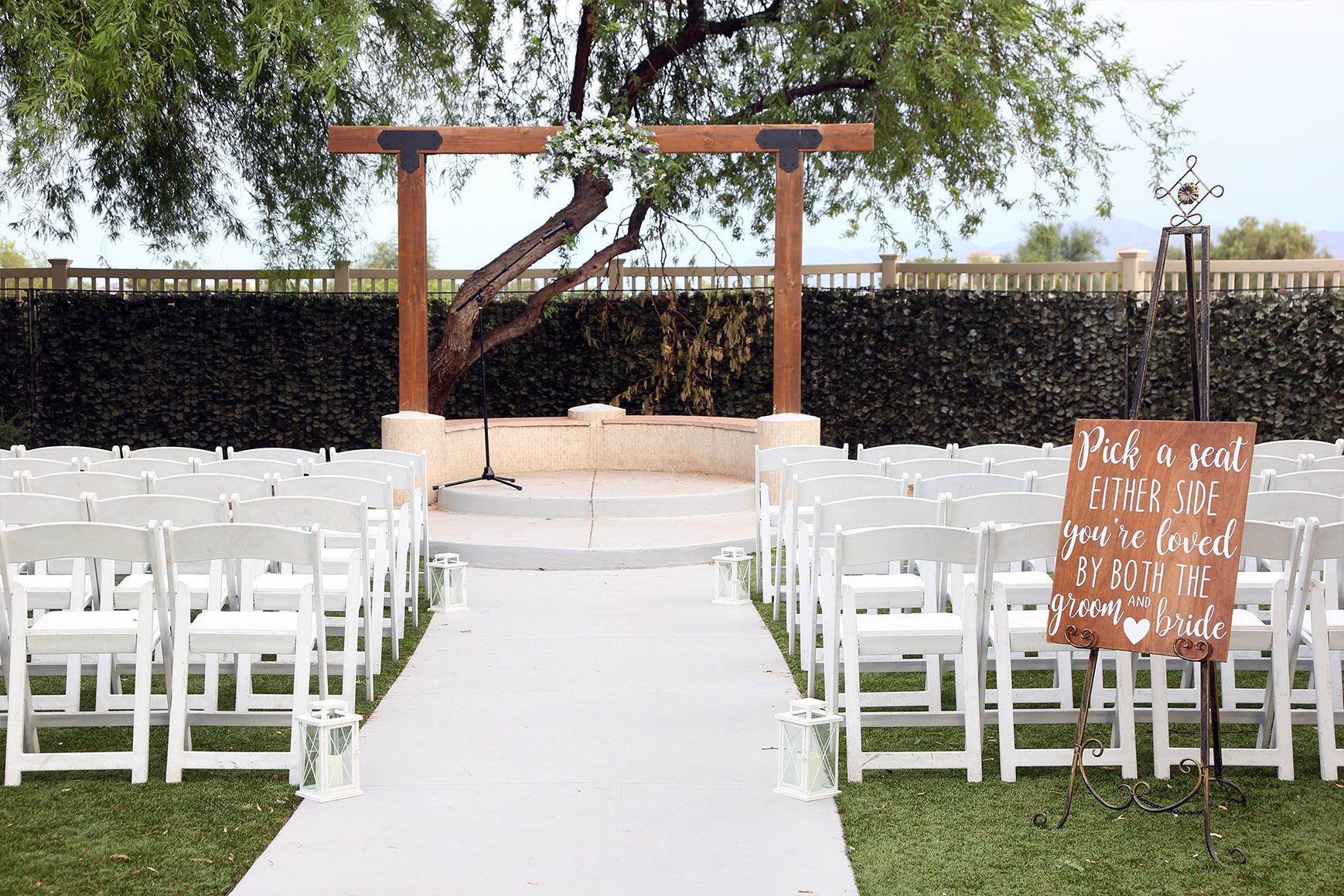 Garden ceremony site  - Palm Valley - Goodyear, Arizona - Maricopa County - Wedgewood Weddings
