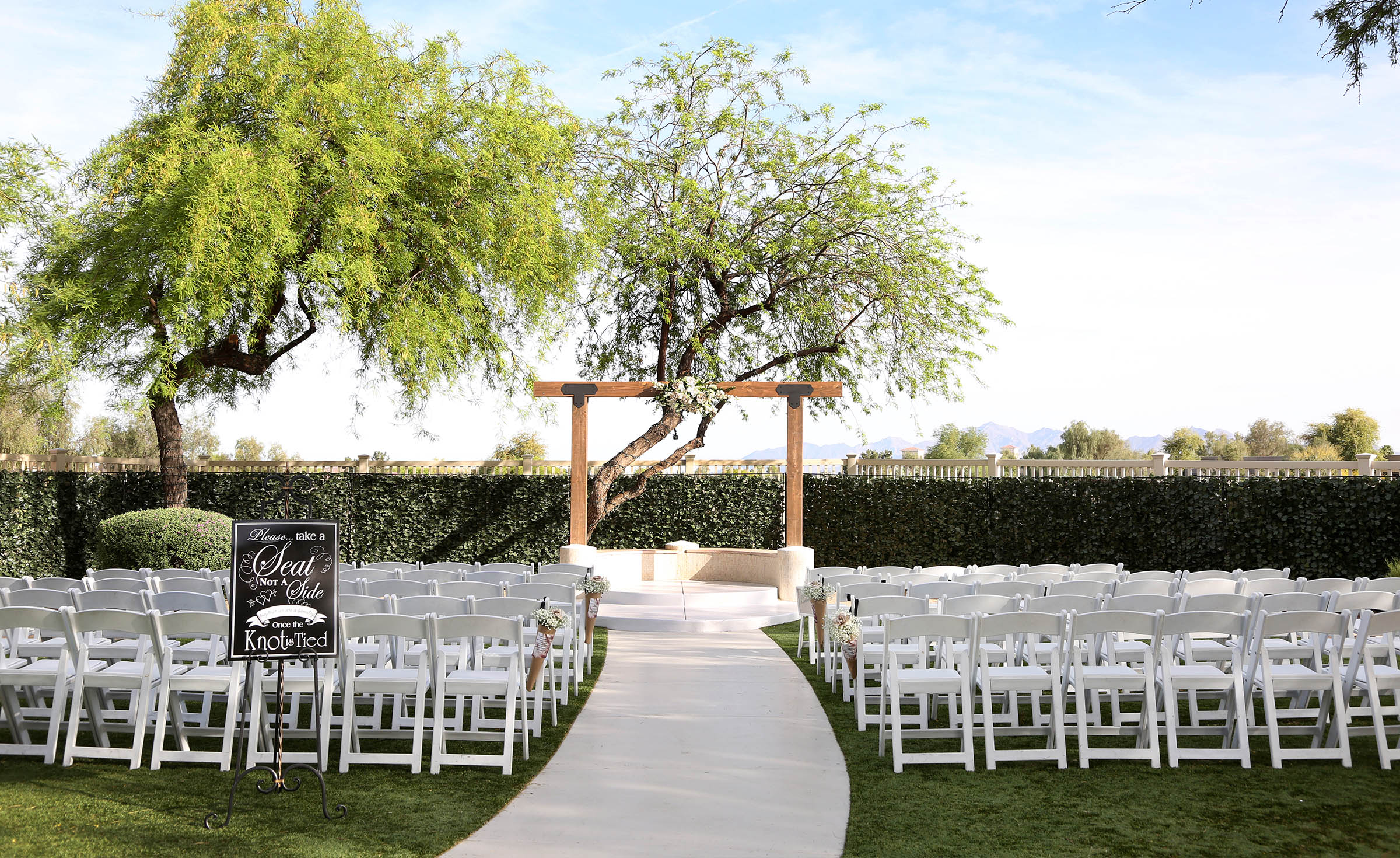 Beautifully ceremony site - Palm Valley - Goodyear, Arizona - Maricopa County - Wedgewood Weddings