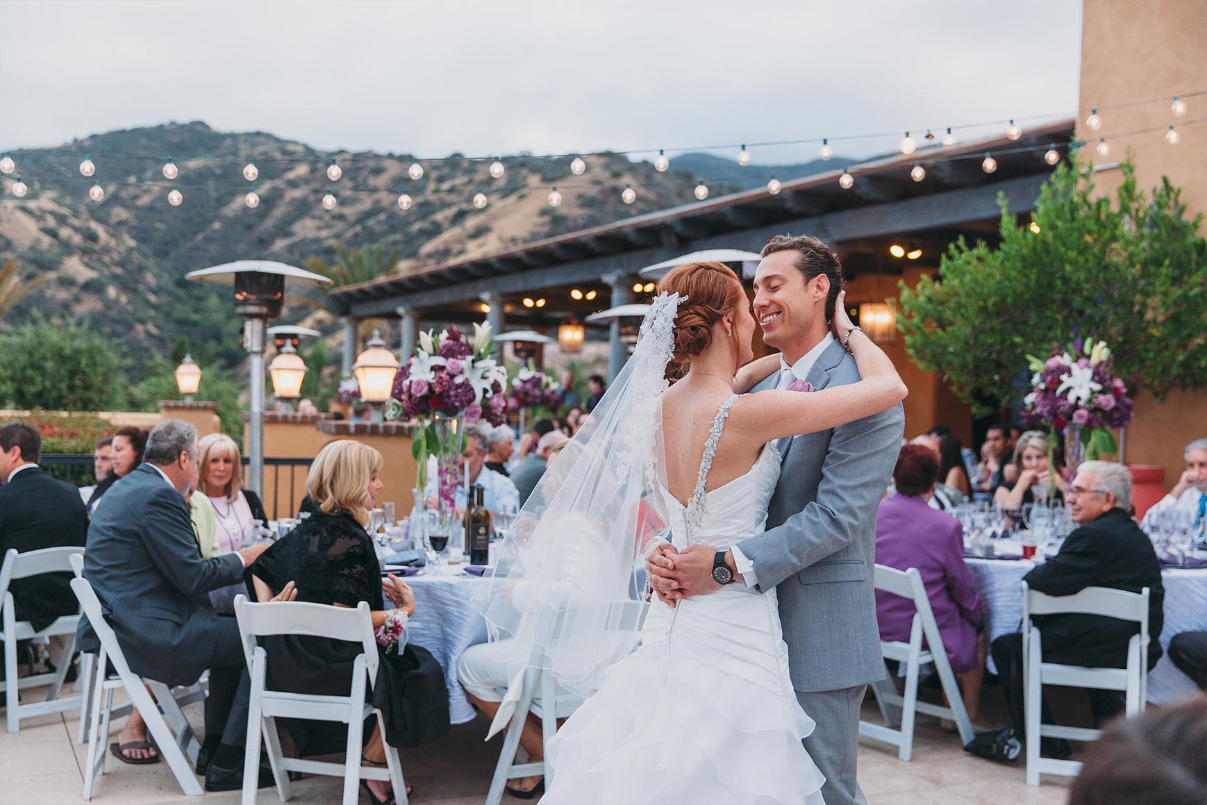 First dance on patio - The Retreat - Corona, California - Riverside County - Wedgewood Weddings