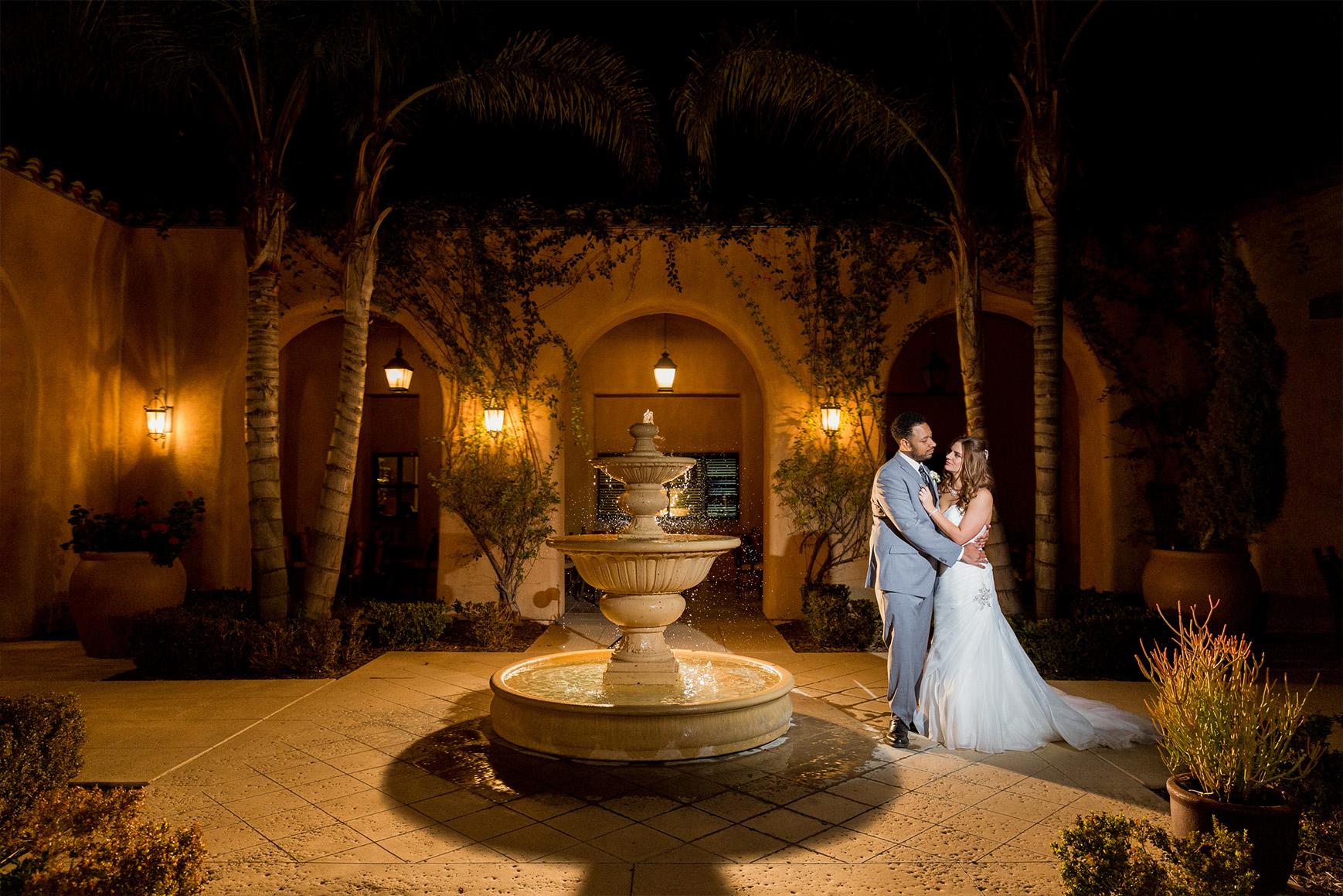Fountain glow - The Retreat - Corona, California - Riverside County - Wedgewood Weddings