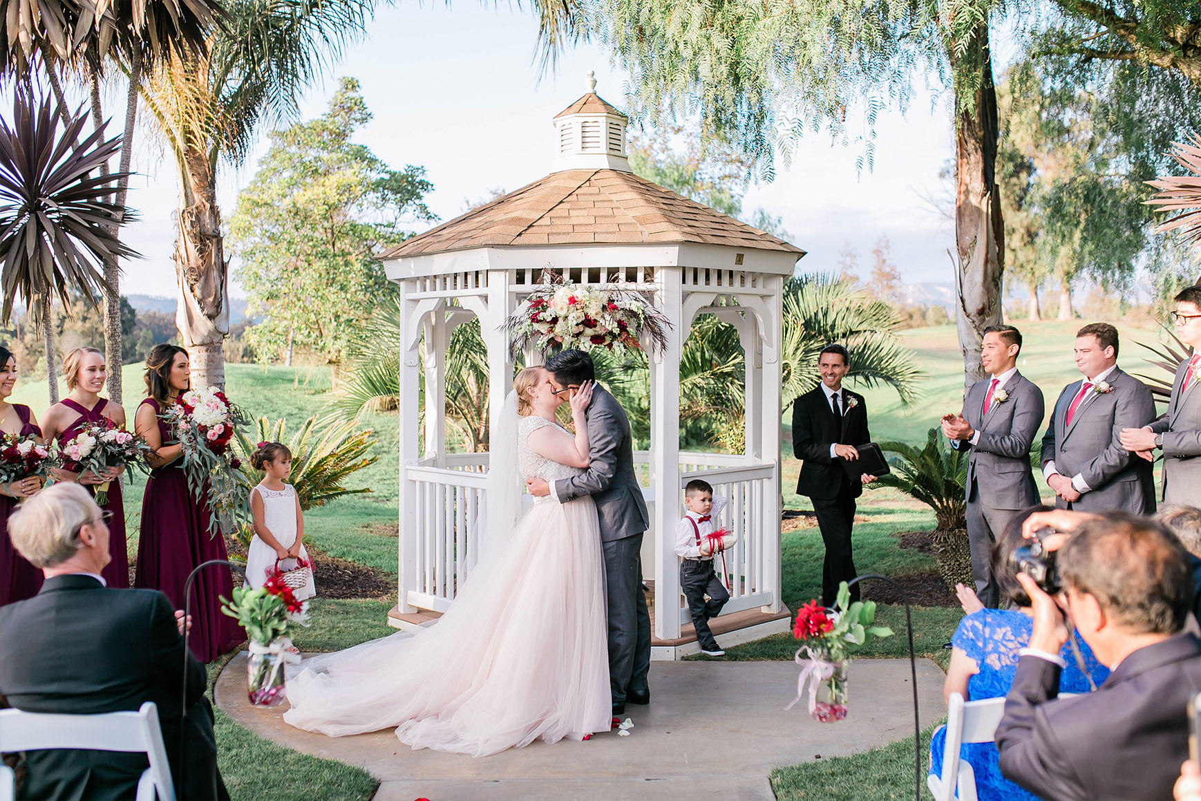 Garden ceremony at Wedgewood Weddings Sterling Hills – Ventura County