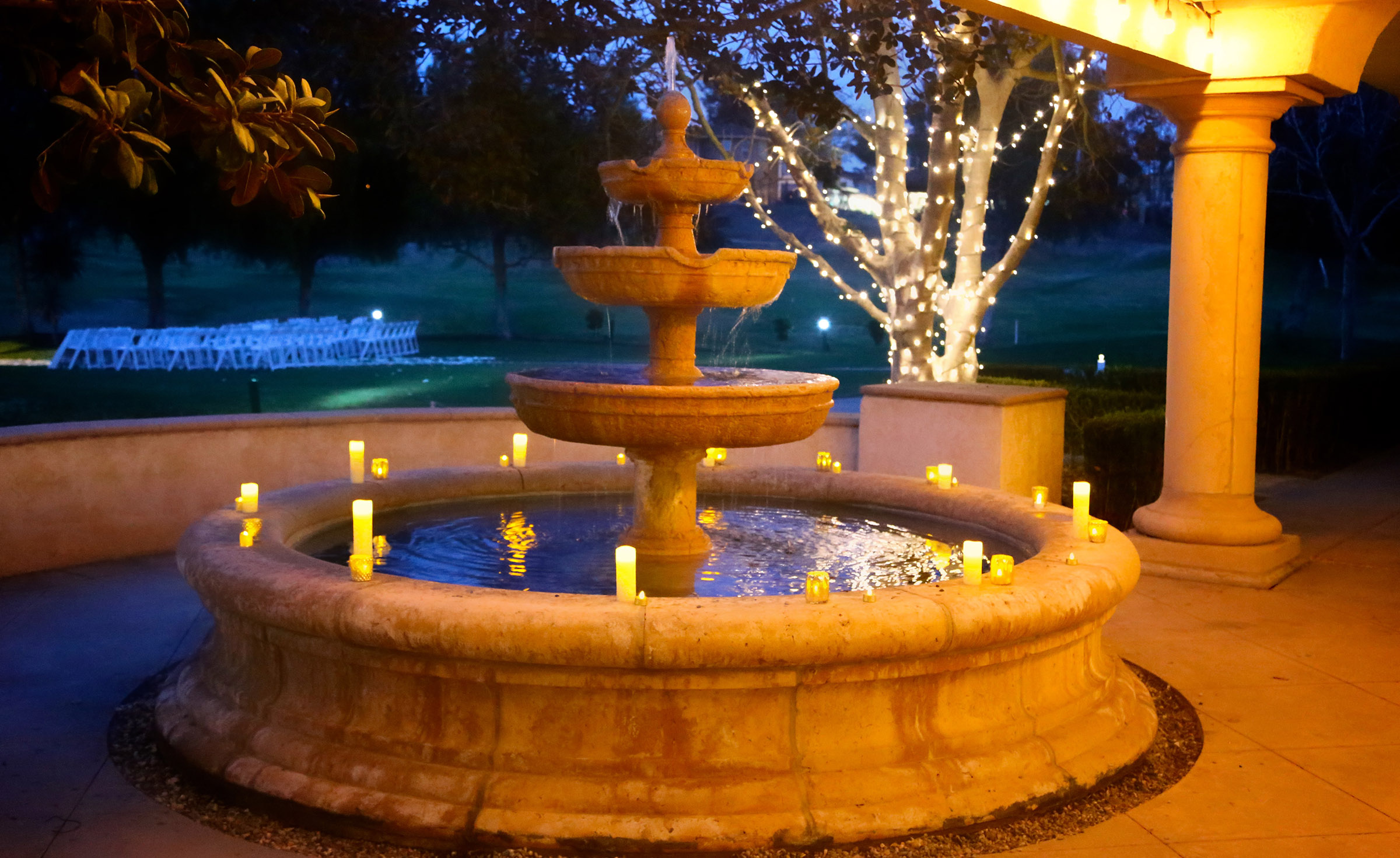 Sparkling Fountain - Sterling Hills - Camarillo, California - Ventura County - Wedgewood Weddings