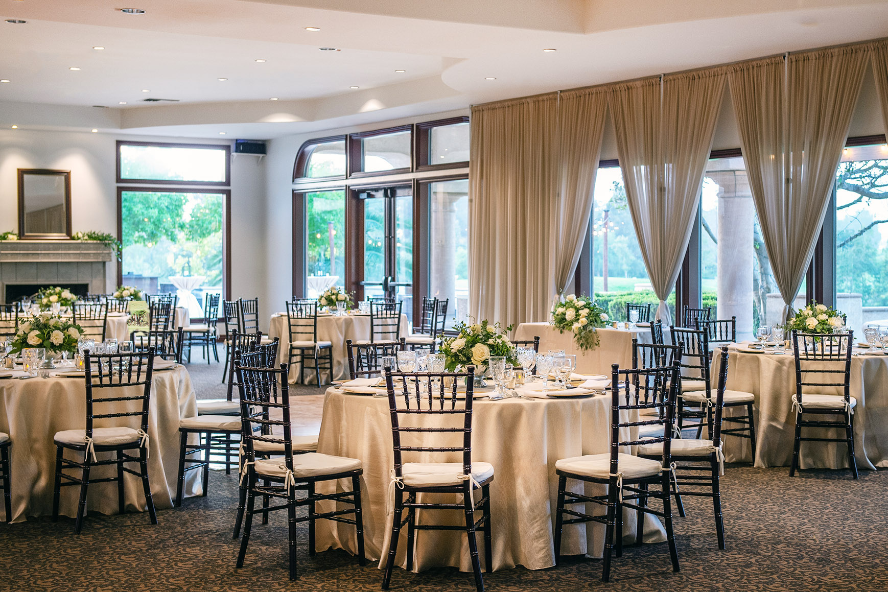 Ballroom overlooking rolling green hills - Sterling Hills - Camarillo, California - Ventura County - Wedgewood Weddings