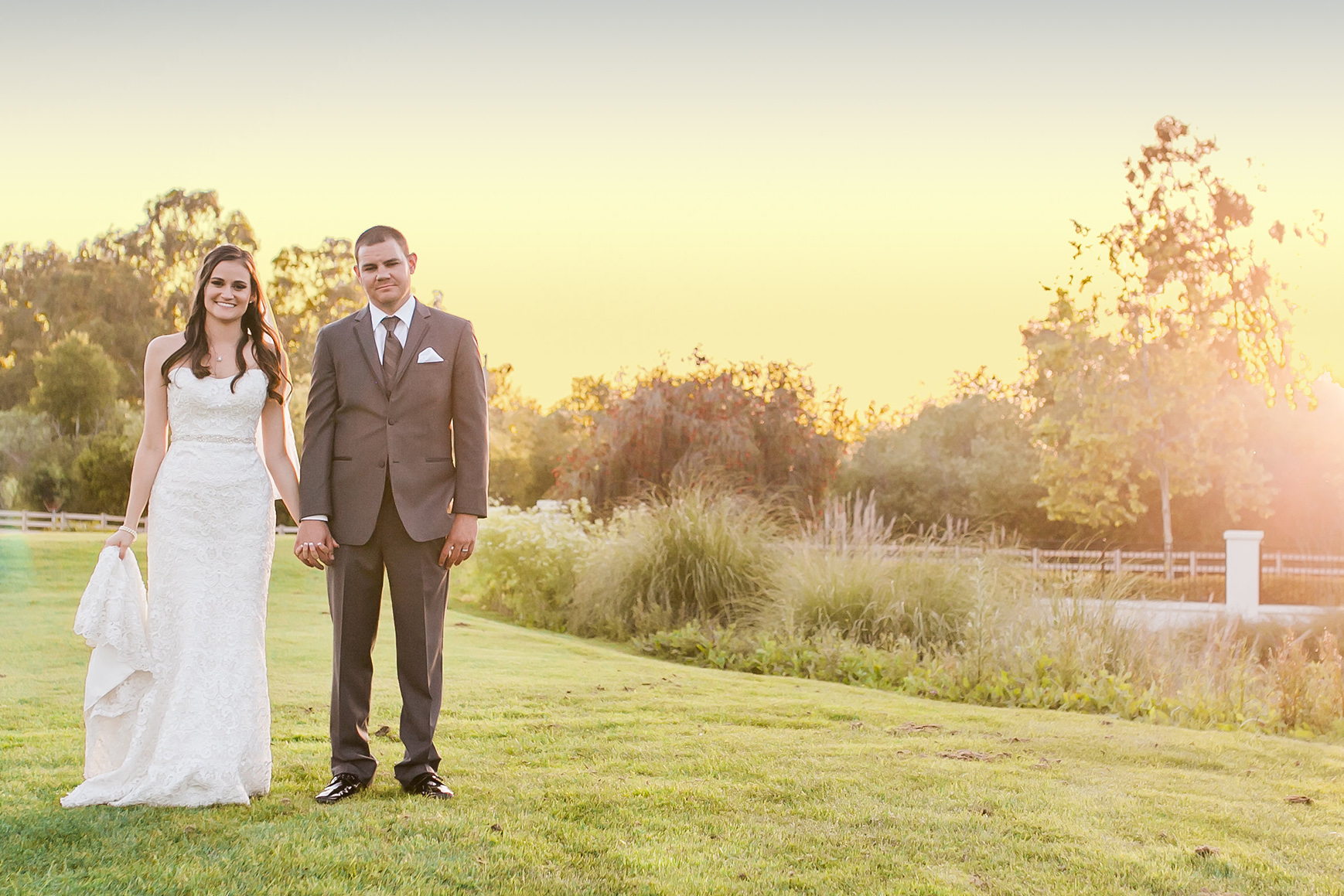 Smiling Newlyweds - Sterling Hills - Camarillo, California - Ventura County - Wedgewood Weddings