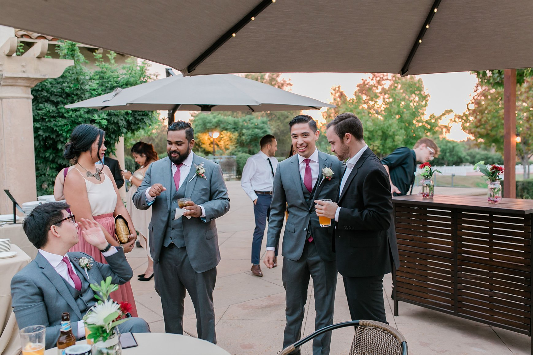 Sip Cocktails on the Spacious Patio - Sterling Hills - Camarillo, California - Ventura County - Wedgewood Weddings