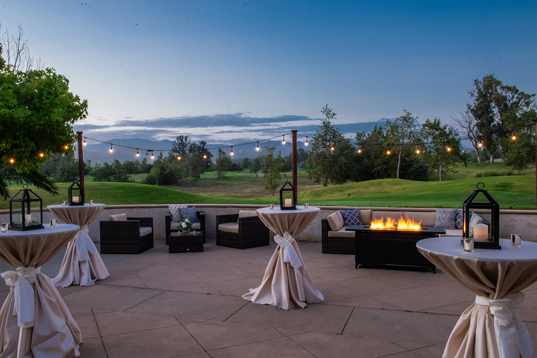 Sterling Hills - Camarillo, California - Ventura County - Sunset at Cocktail Hour - Wedgewood Weddings
