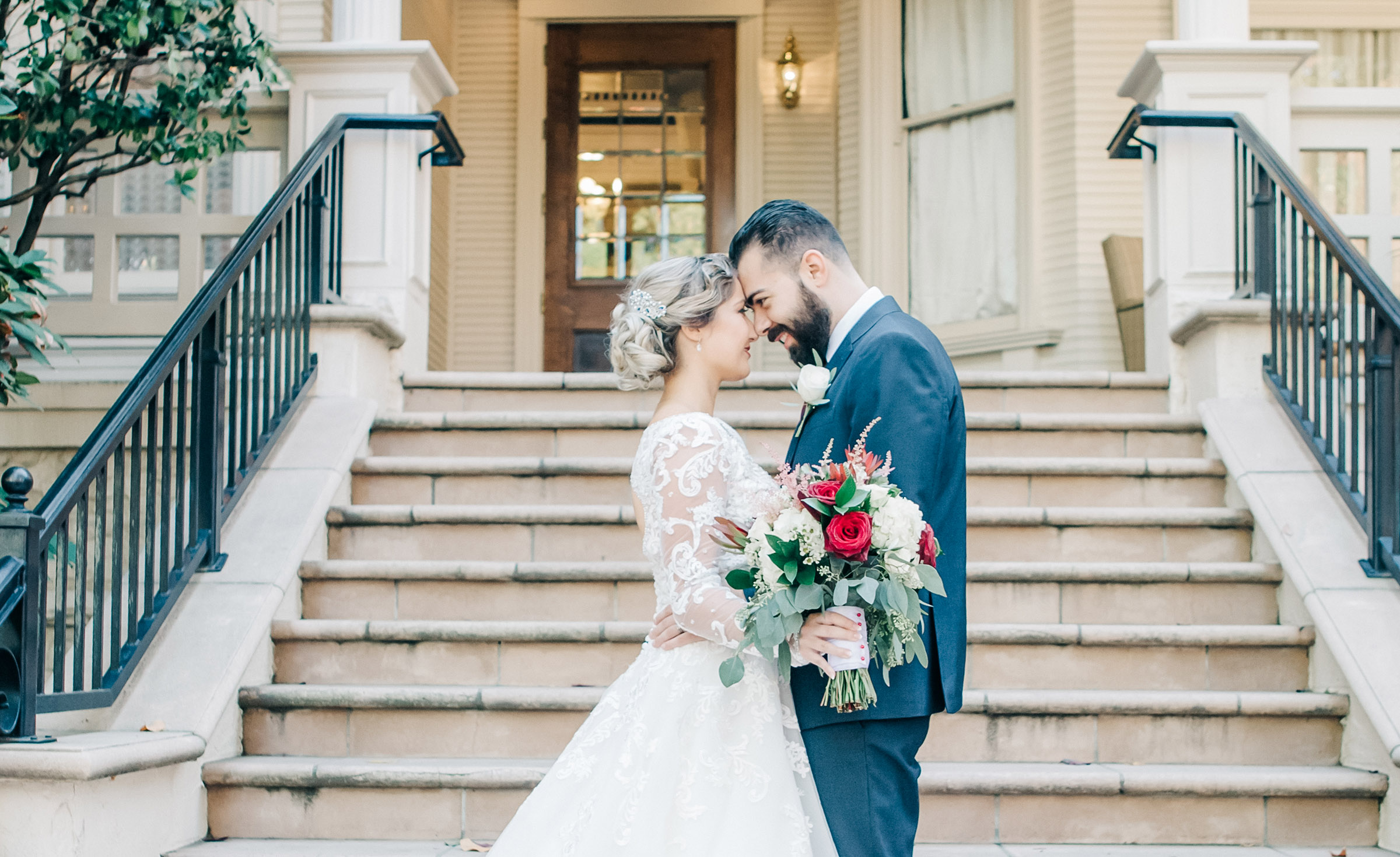Bride & Groom - Sterling Hotel - Sacramento, California - Sacramento County - Wedgewood Weddings