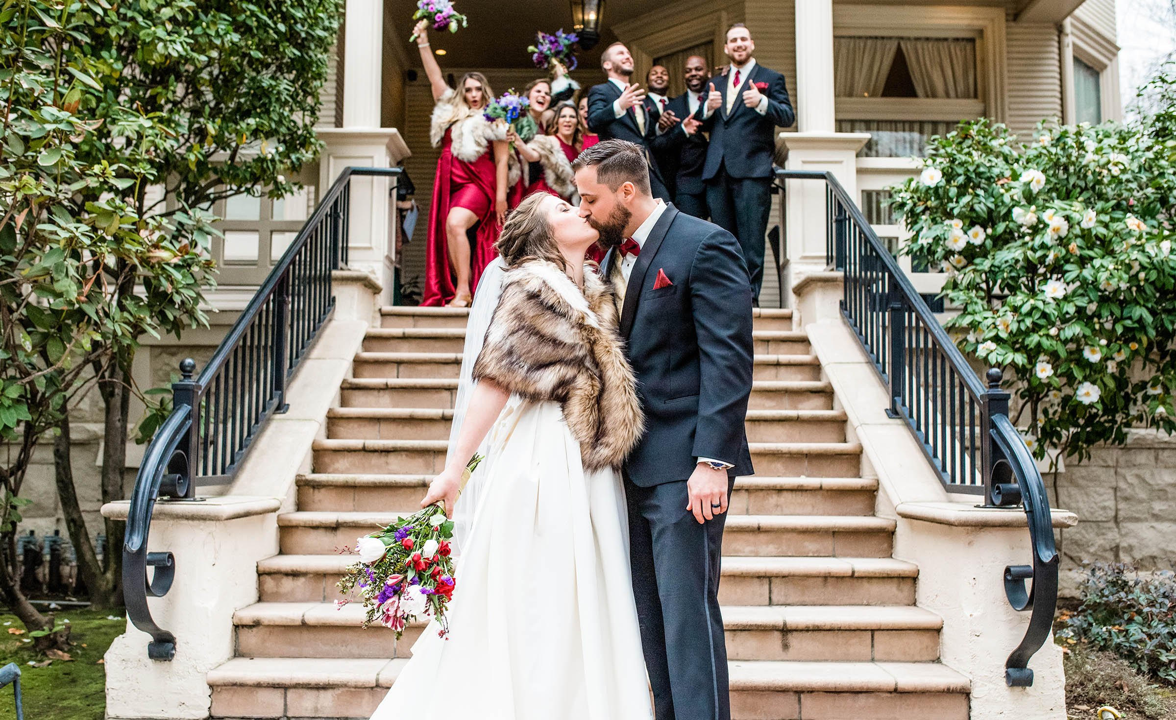 Patio ceremony for intimate weddings - Sterling Hotel - Sacramento, California - Sacramento County - Wedgewood Weddings