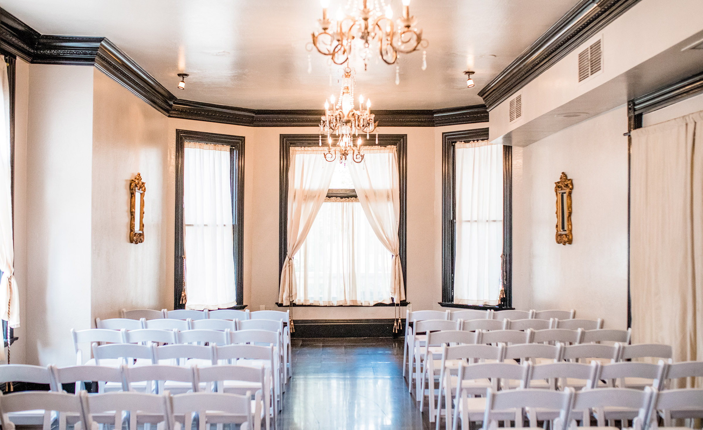 Indoor Ceremony - Sterling Hotel - Sacramento, California - Sacramento County - Wedgewood Weddings