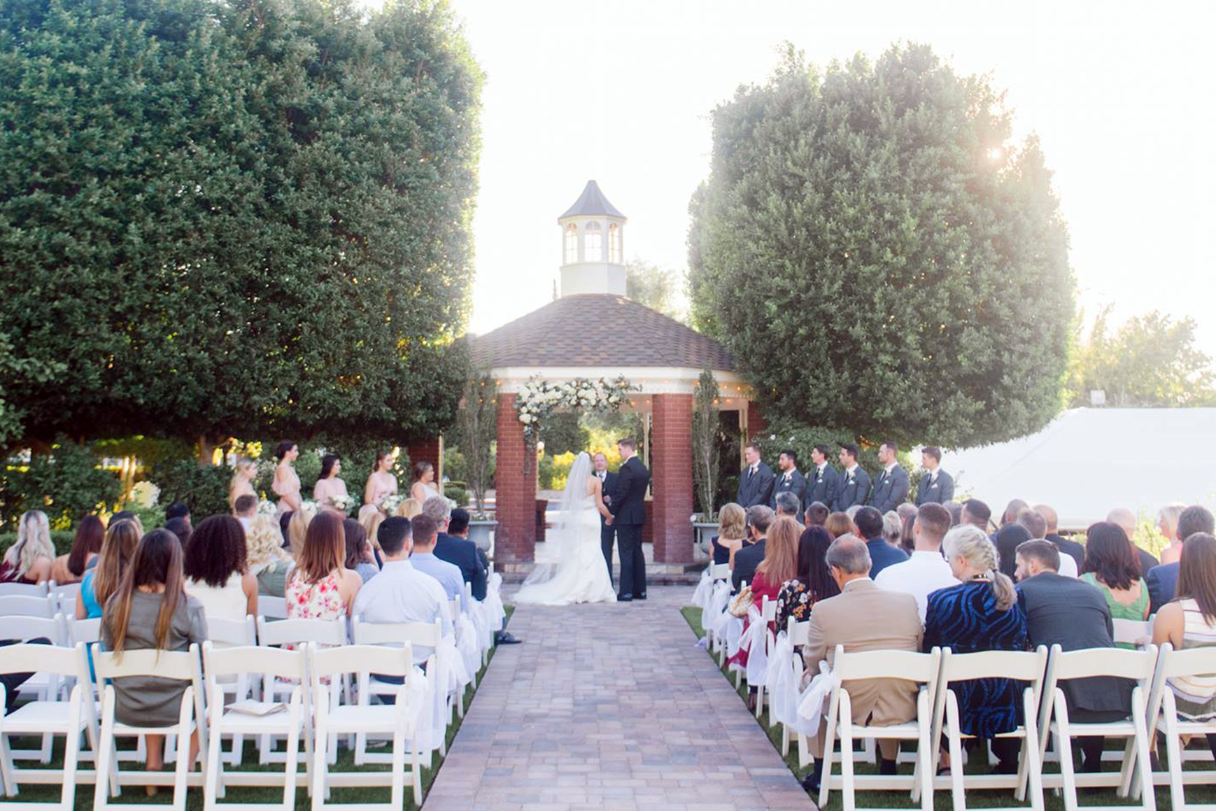 Outdoor ceremony - Stonebridge Manor - Mesa, Arizona - Maricopa County - Wedgewood Weddings