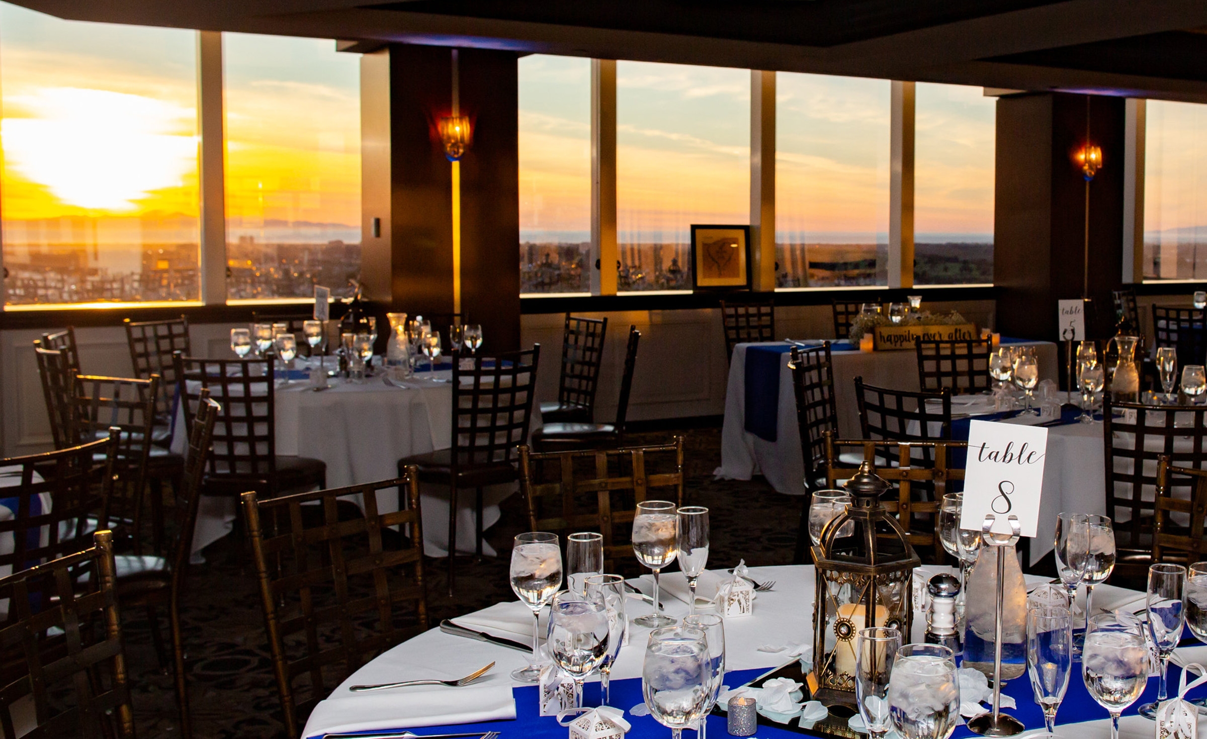 Banquet Room - Pacific View Tower Club - Oxnard, California - Ventura County - Beach Wedding - Wedgewood Weddings