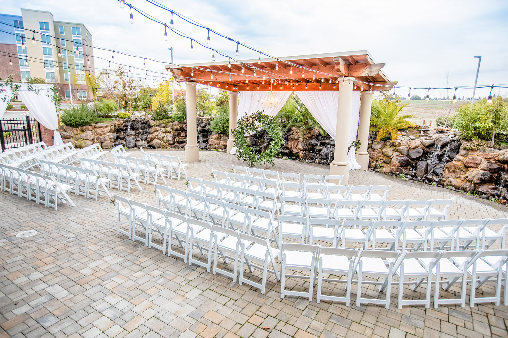Outdoor ceremony site - Union Brick - Roseville, California, Placer County - Wedgewood Weddings
