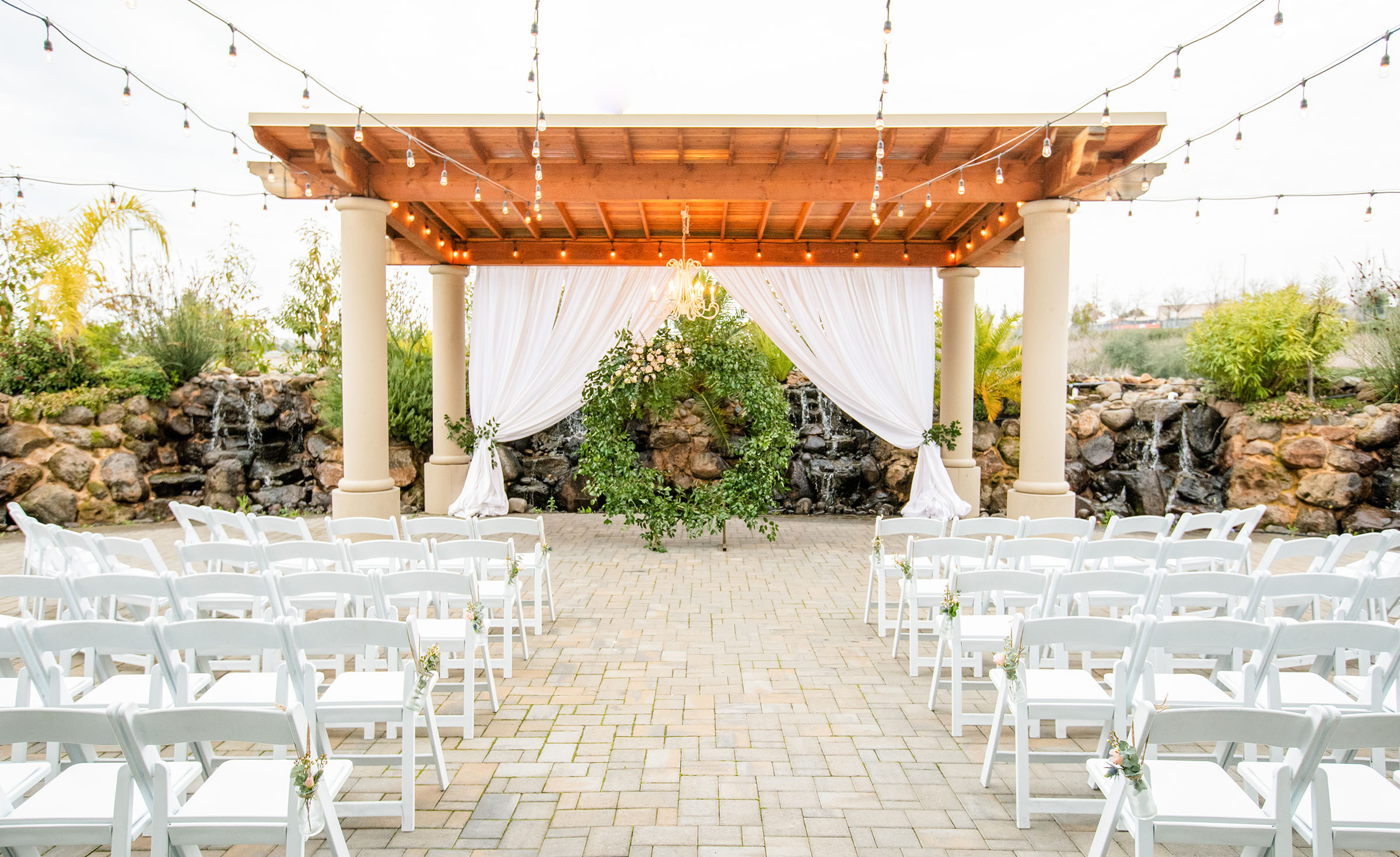 Courtyard ceremony - Union Brick - Roseville, California, Placer County - Wedgewood Weddings