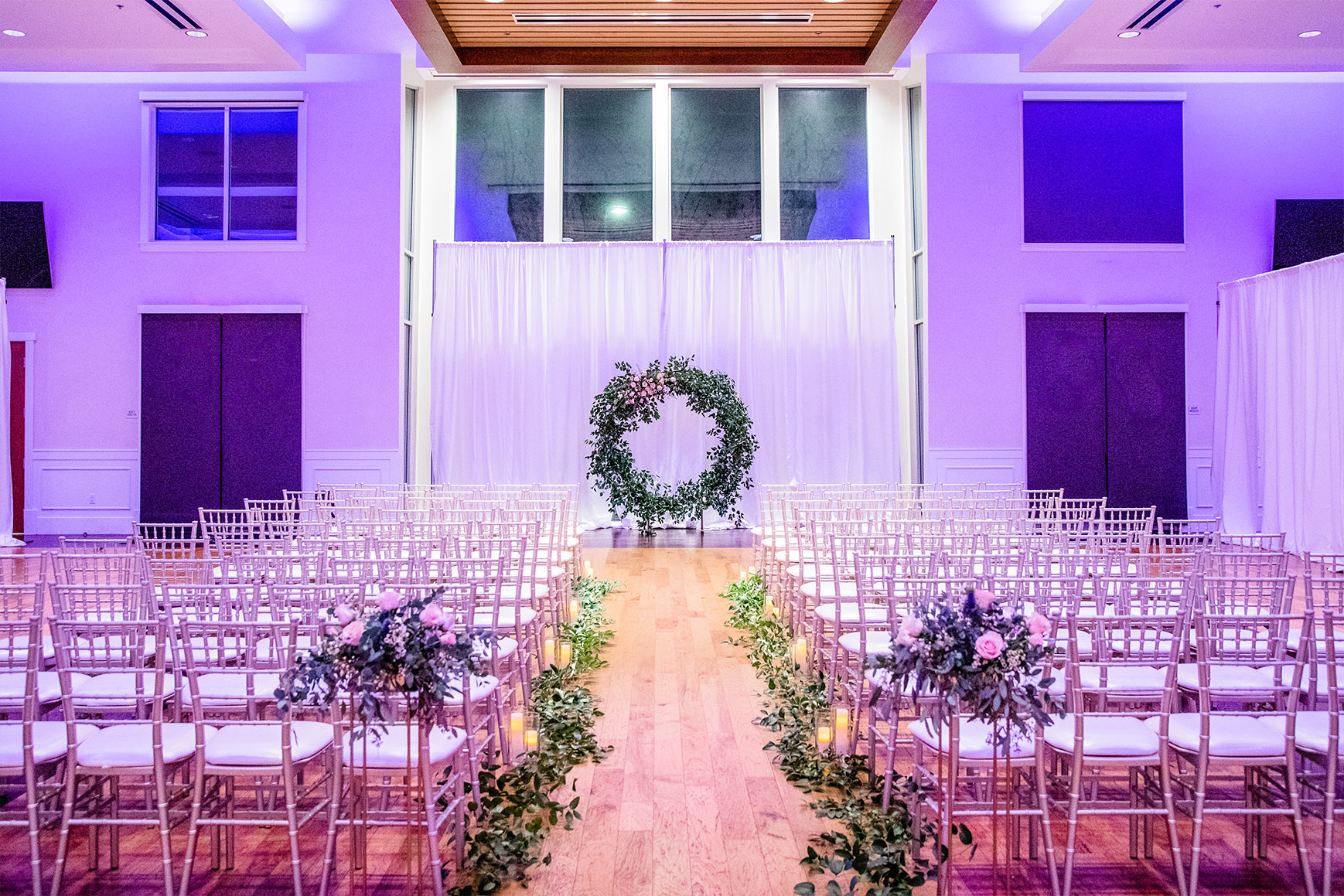 Indoor ceremony - Union Brick - Roseville, California, Placer County - Wedgewood Weddings