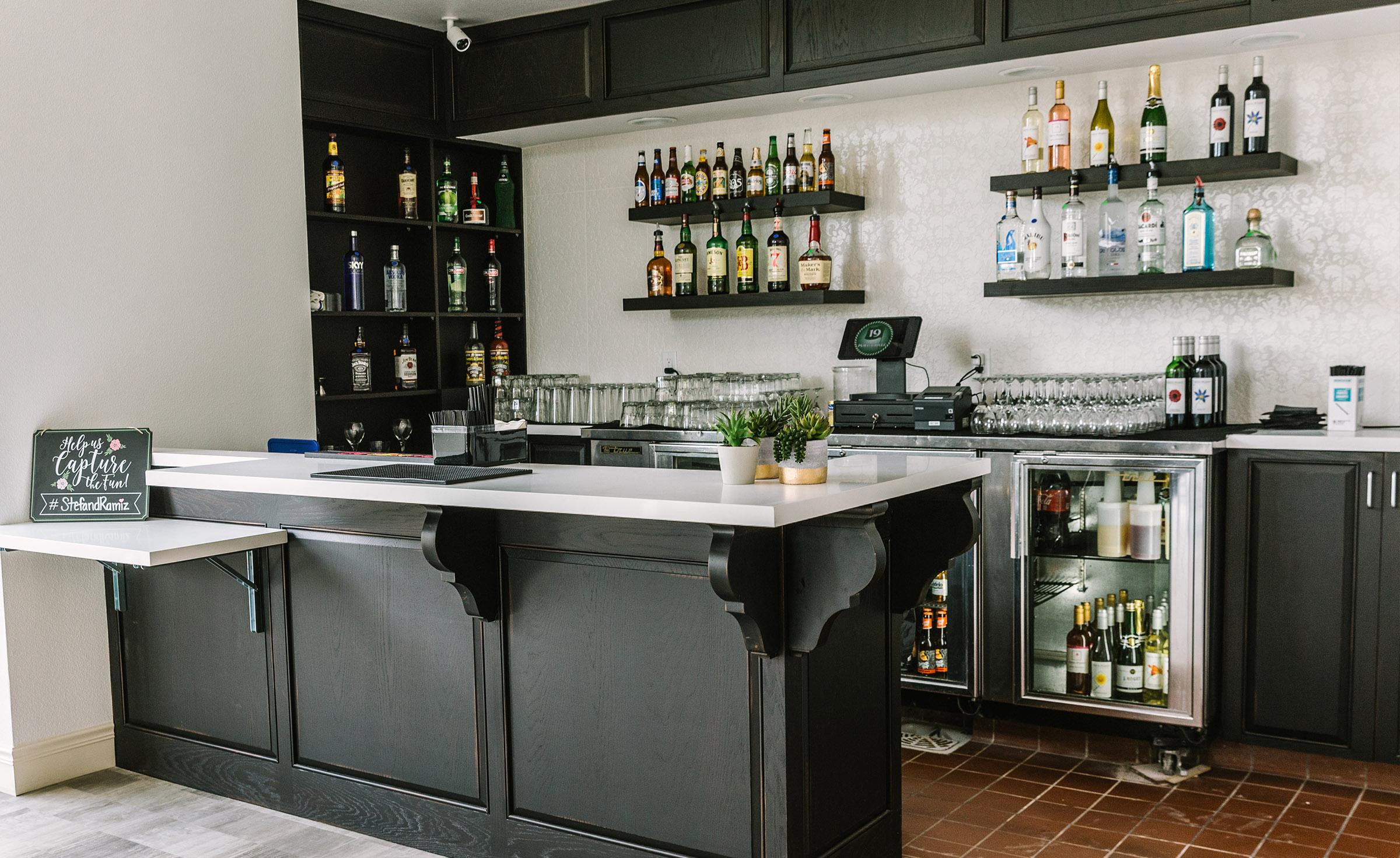 Built-in bar - University Club - Irvine, California - Orange County - Wedgewood Weddings
