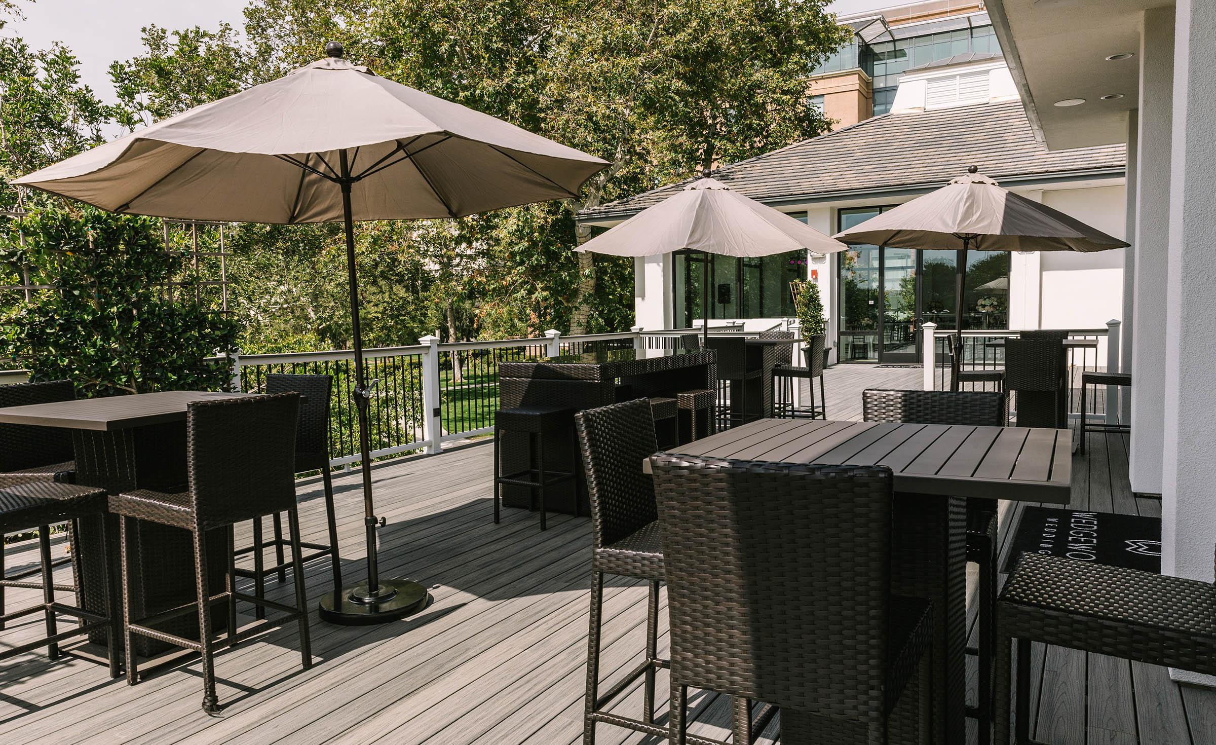Cocktail patio - University Club - Irvine, California - Orange County - Wedgewood Weddings