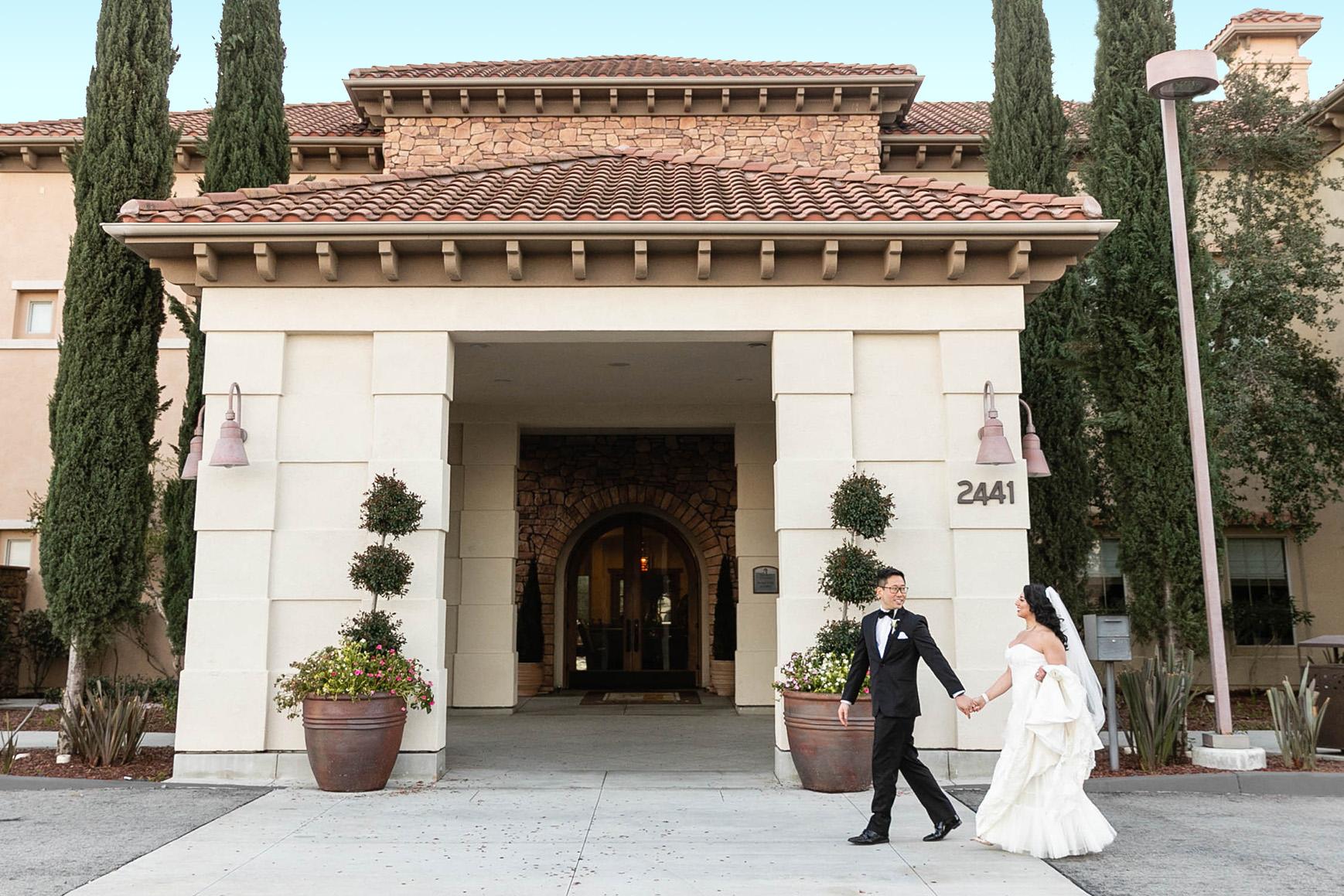 Walking Couple - Vellano - Chino Hills, California - San Bernardino County - Wedgewood Weddings